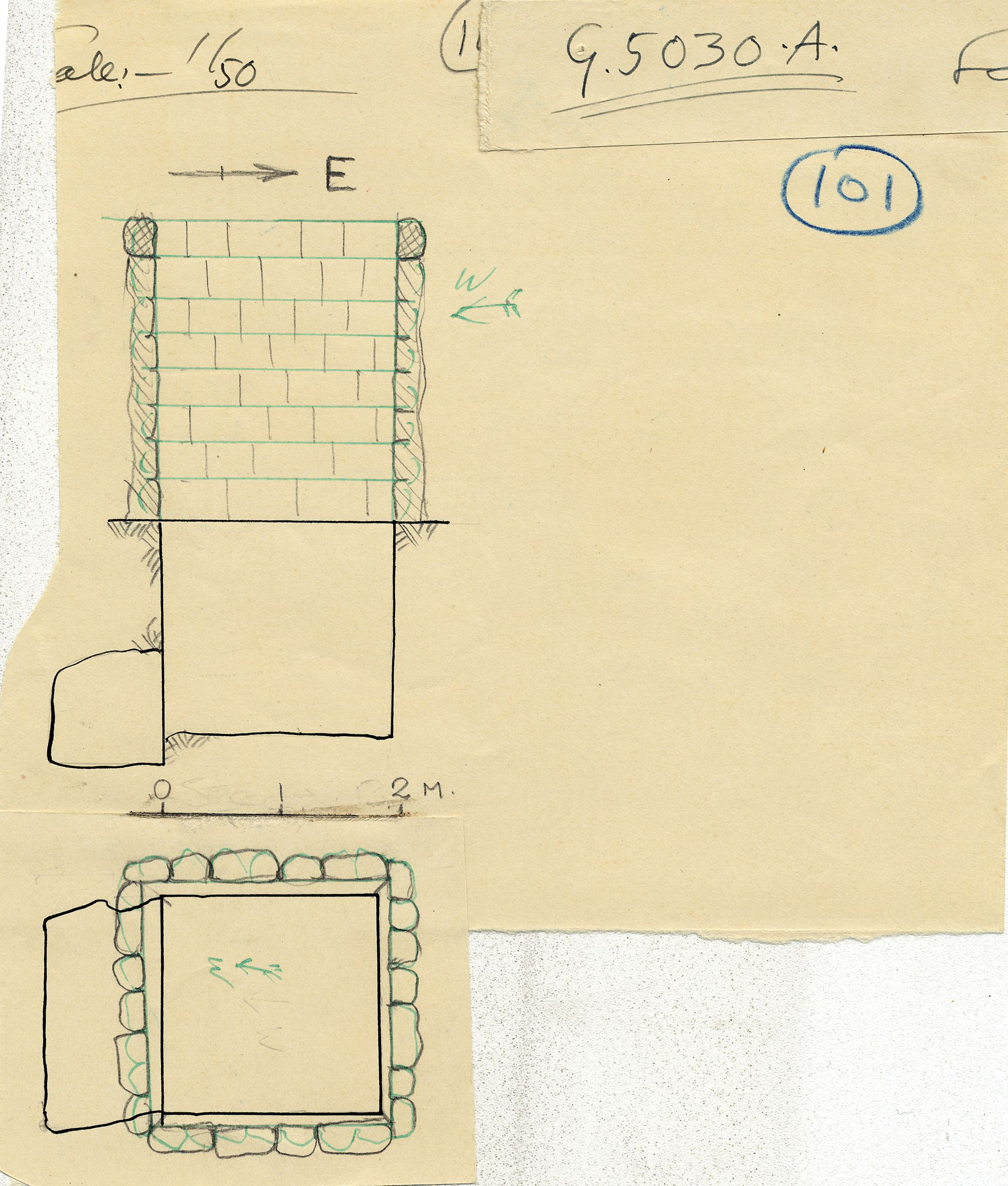 Maps and plans: G 5030, Shaft A