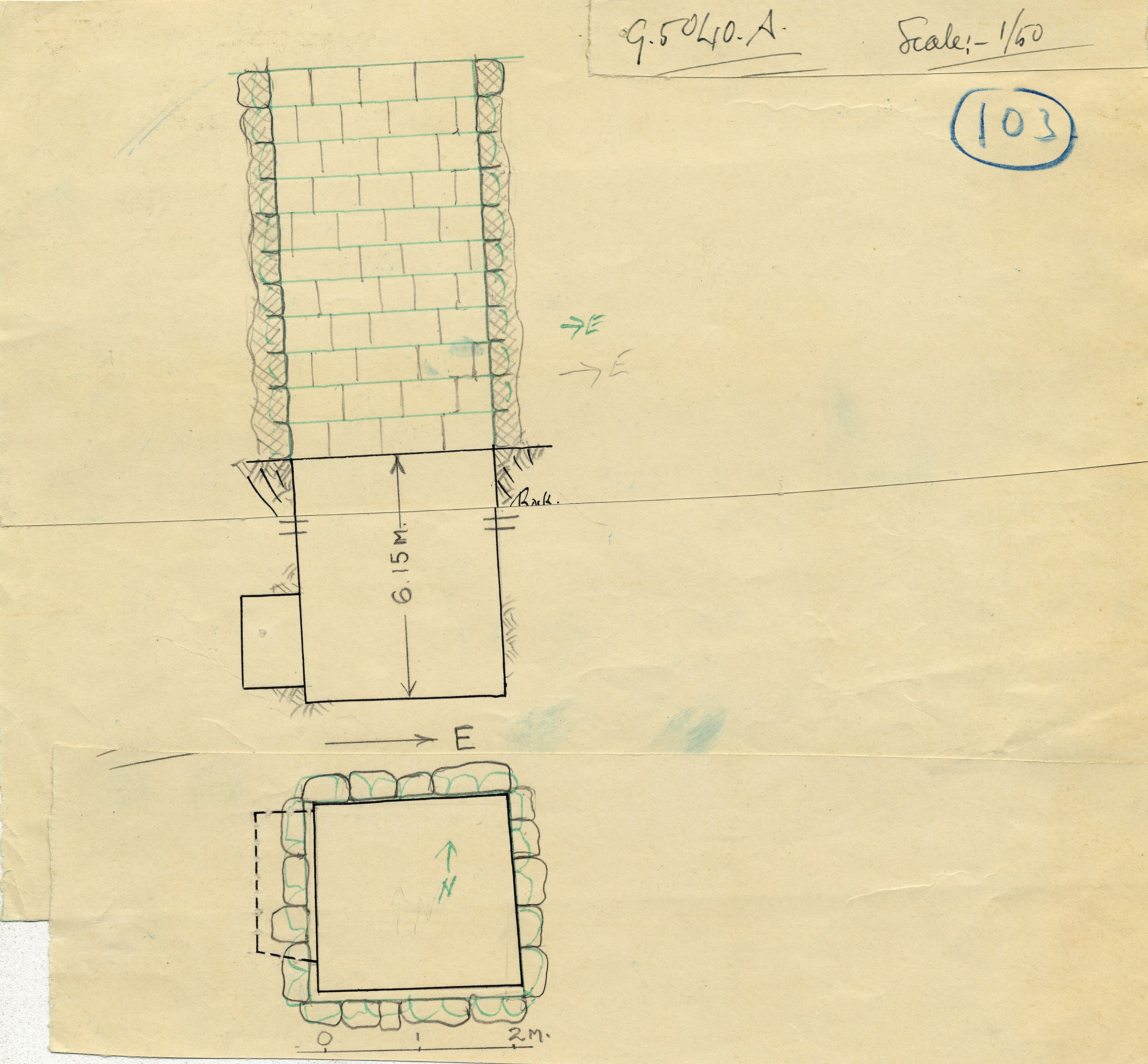 Maps and plans: G 5040, Shaft A
