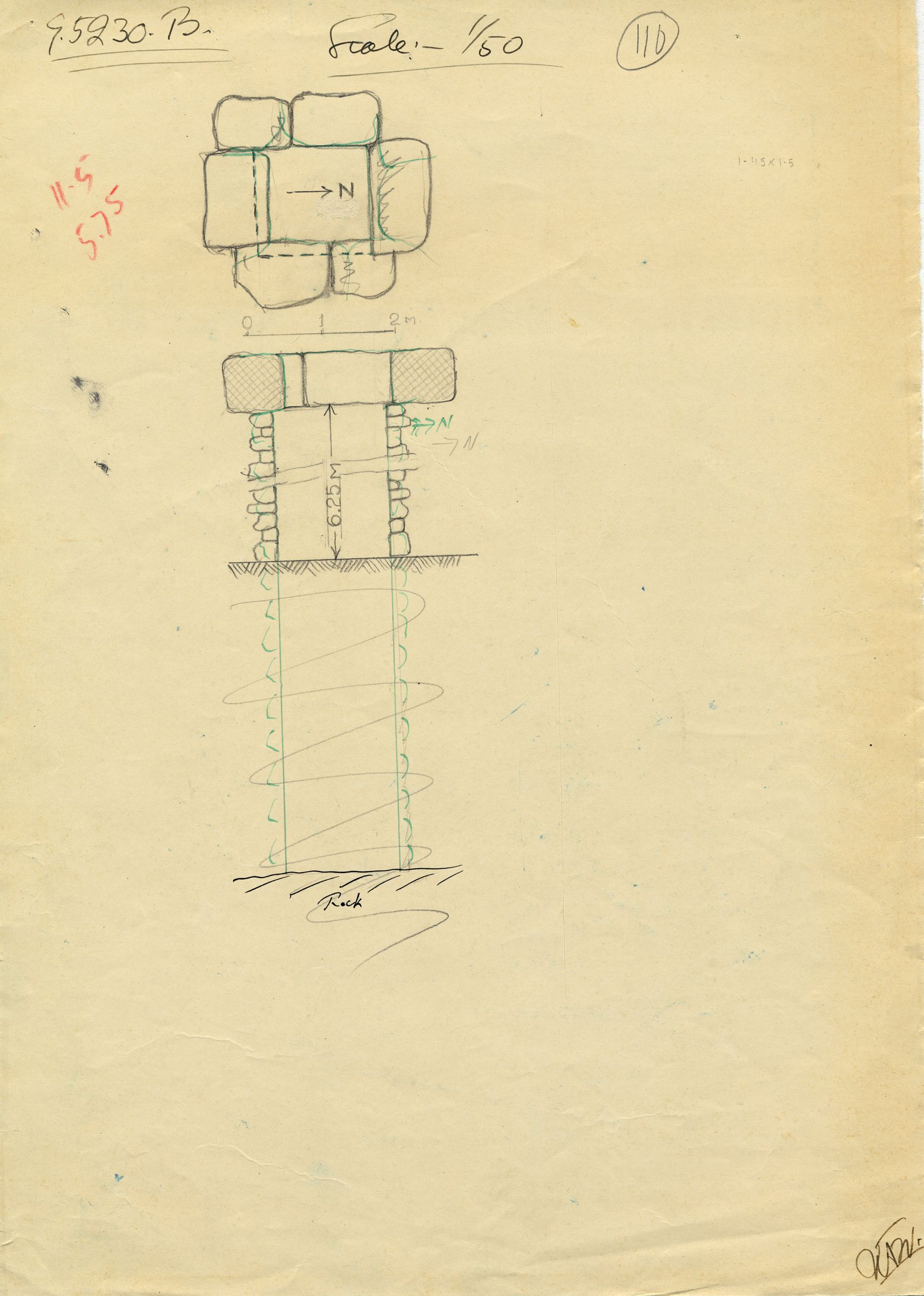 Maps and plans: G 5230, Shaft B