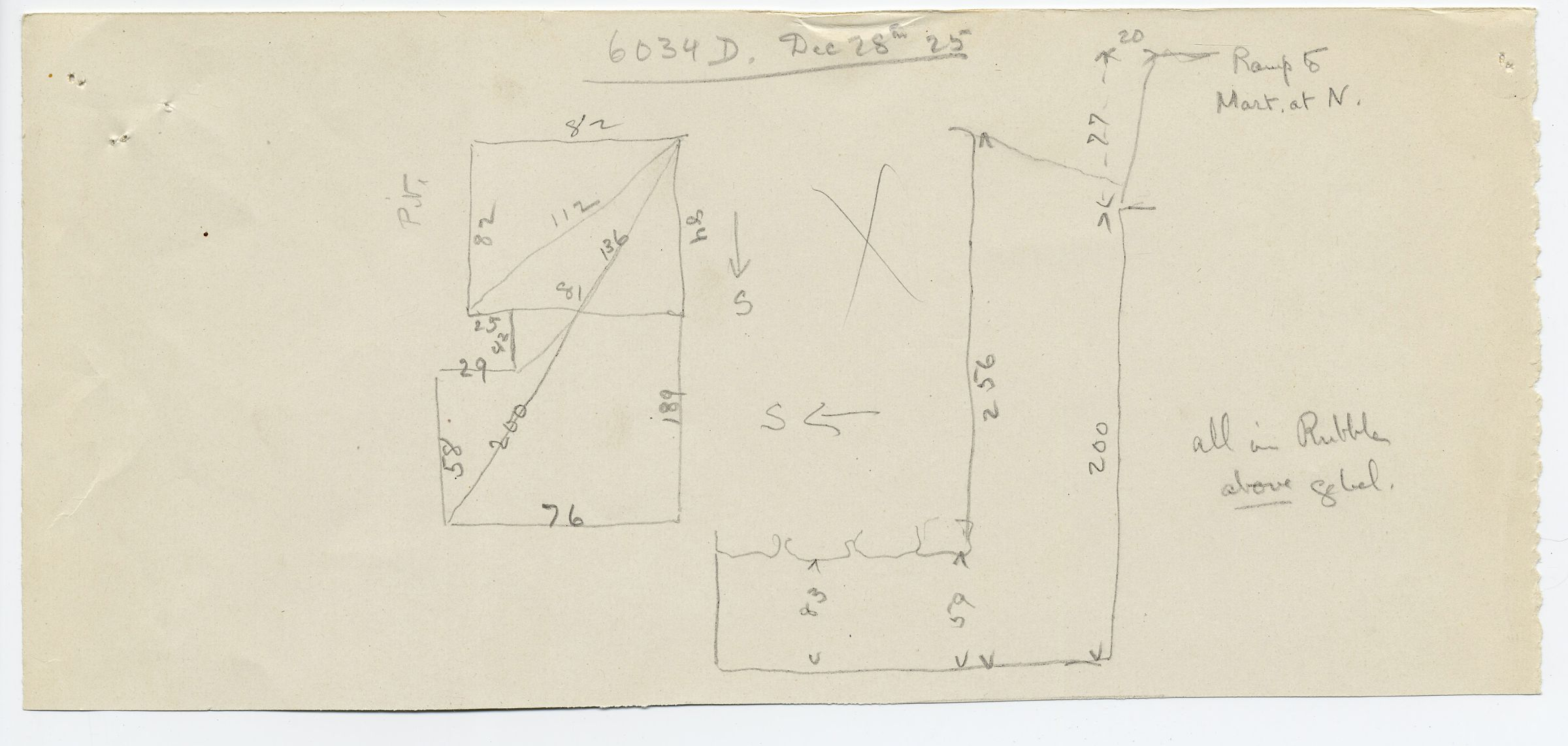 Maps and plans: G 6034, Shaft D