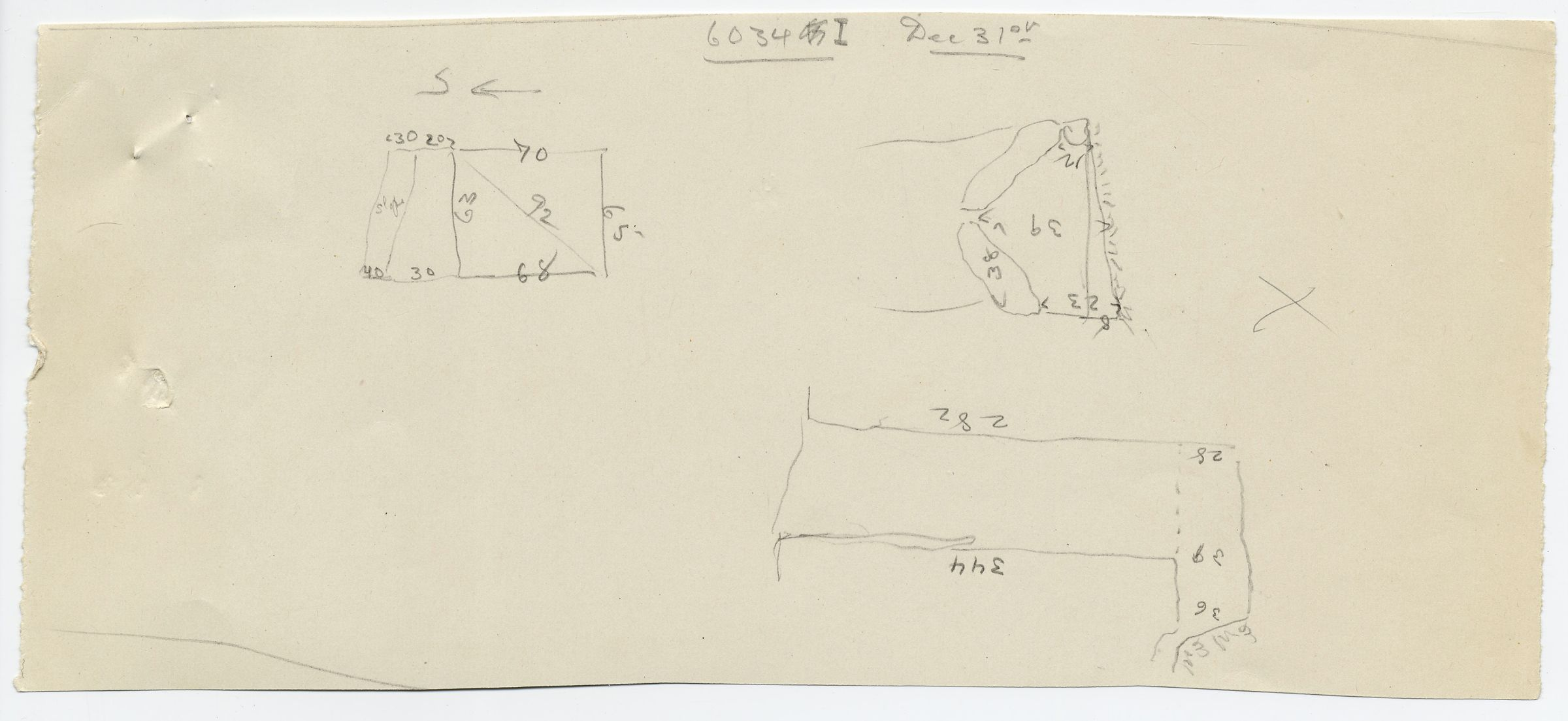 Maps and plans: G 6034, Shaft I