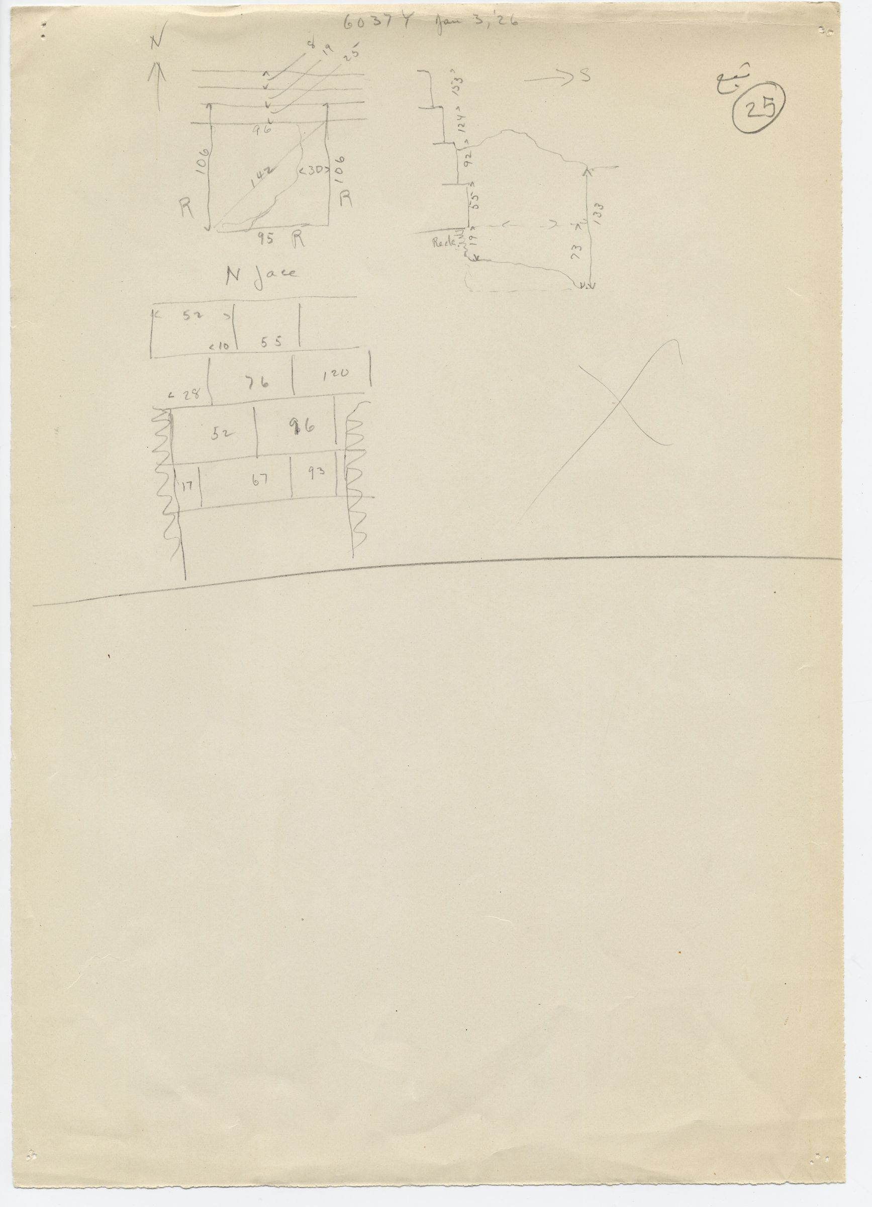 Maps and plans: G 6037, Shaft Y