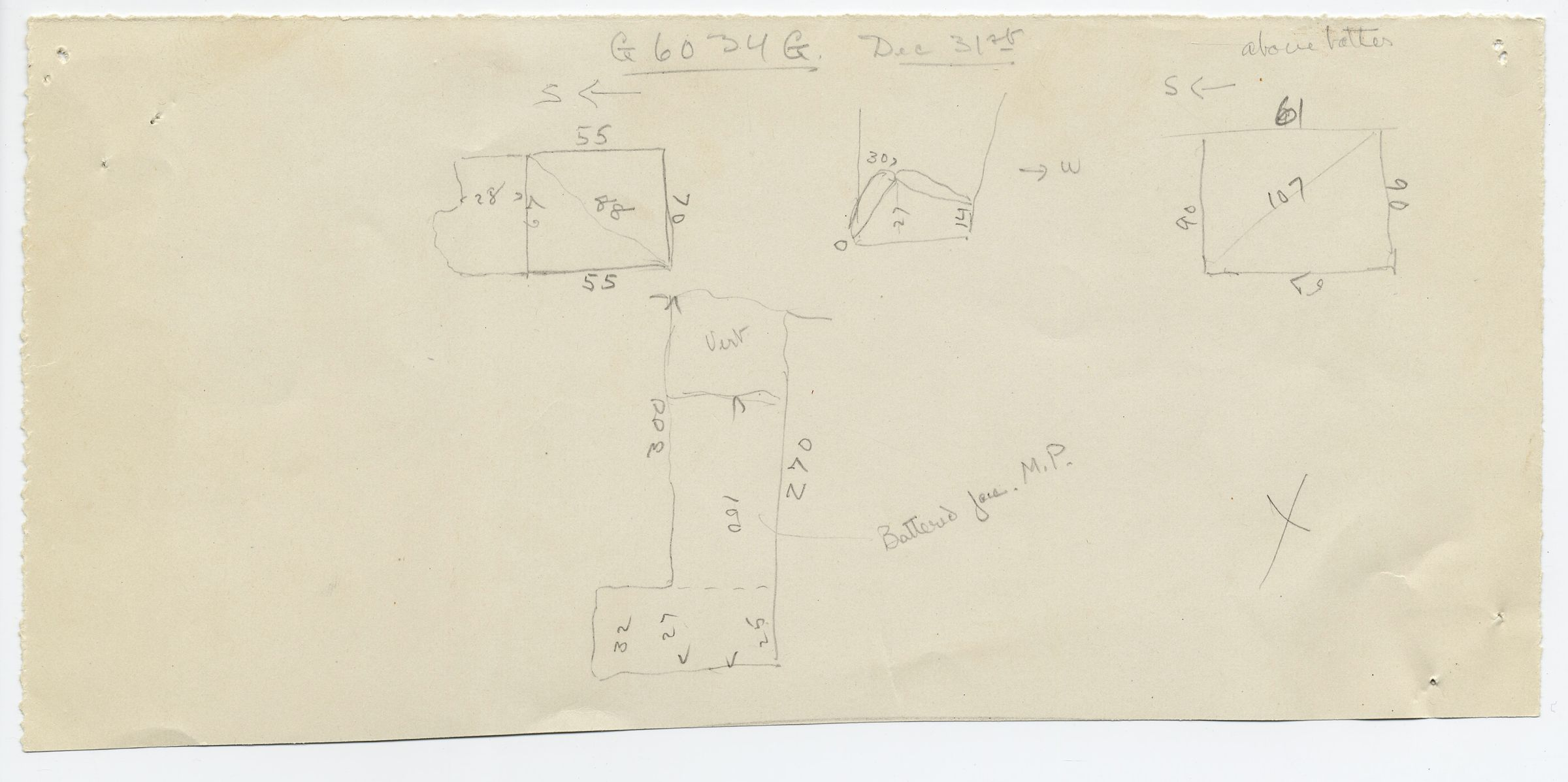 Maps and plans: G 6034, Shaft G