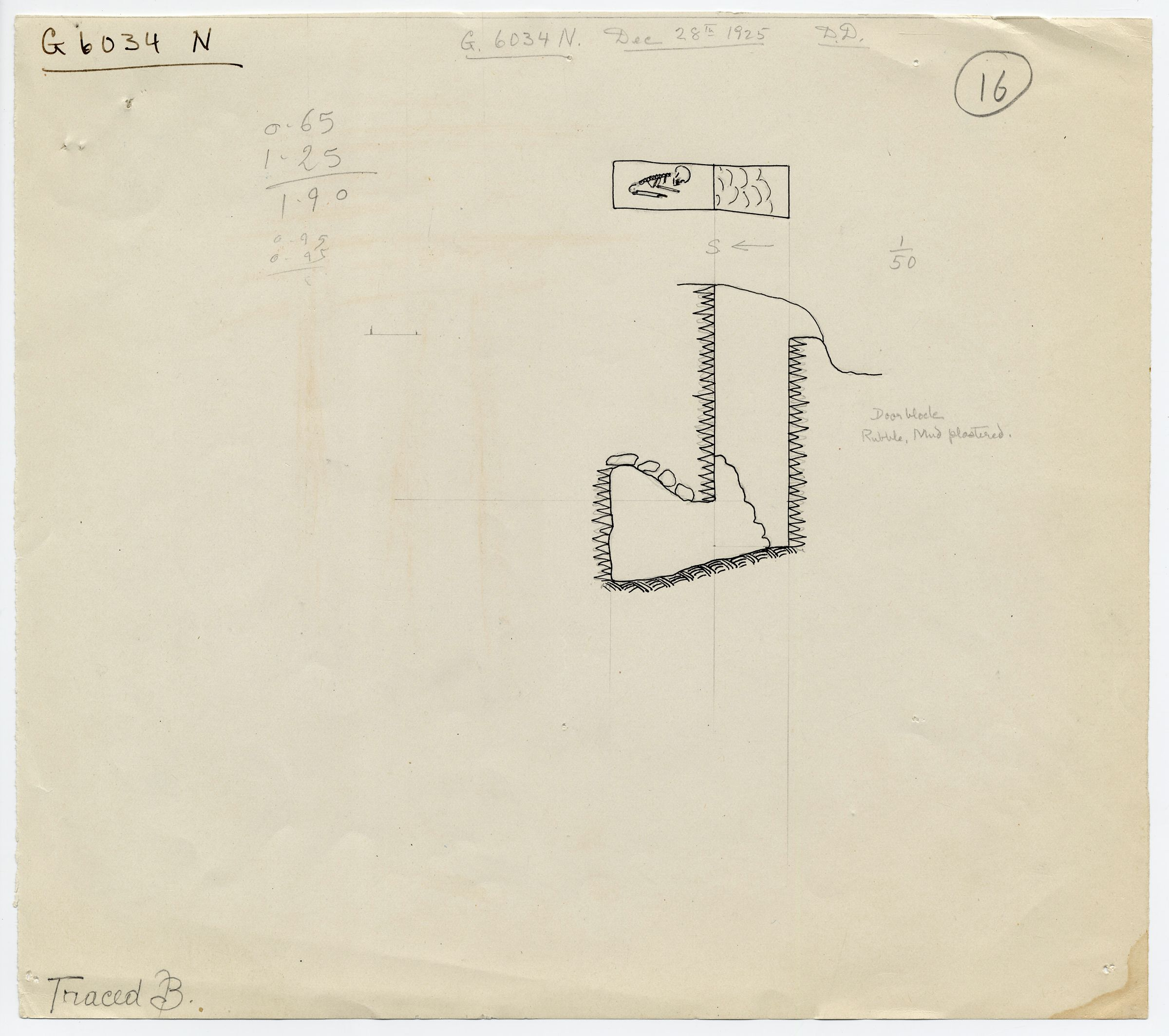 Maps and plans: G 6034, Shaft N