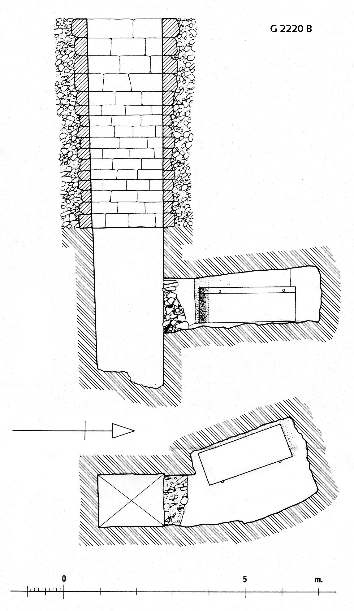 Maps and plans: G 2220, Shaft B