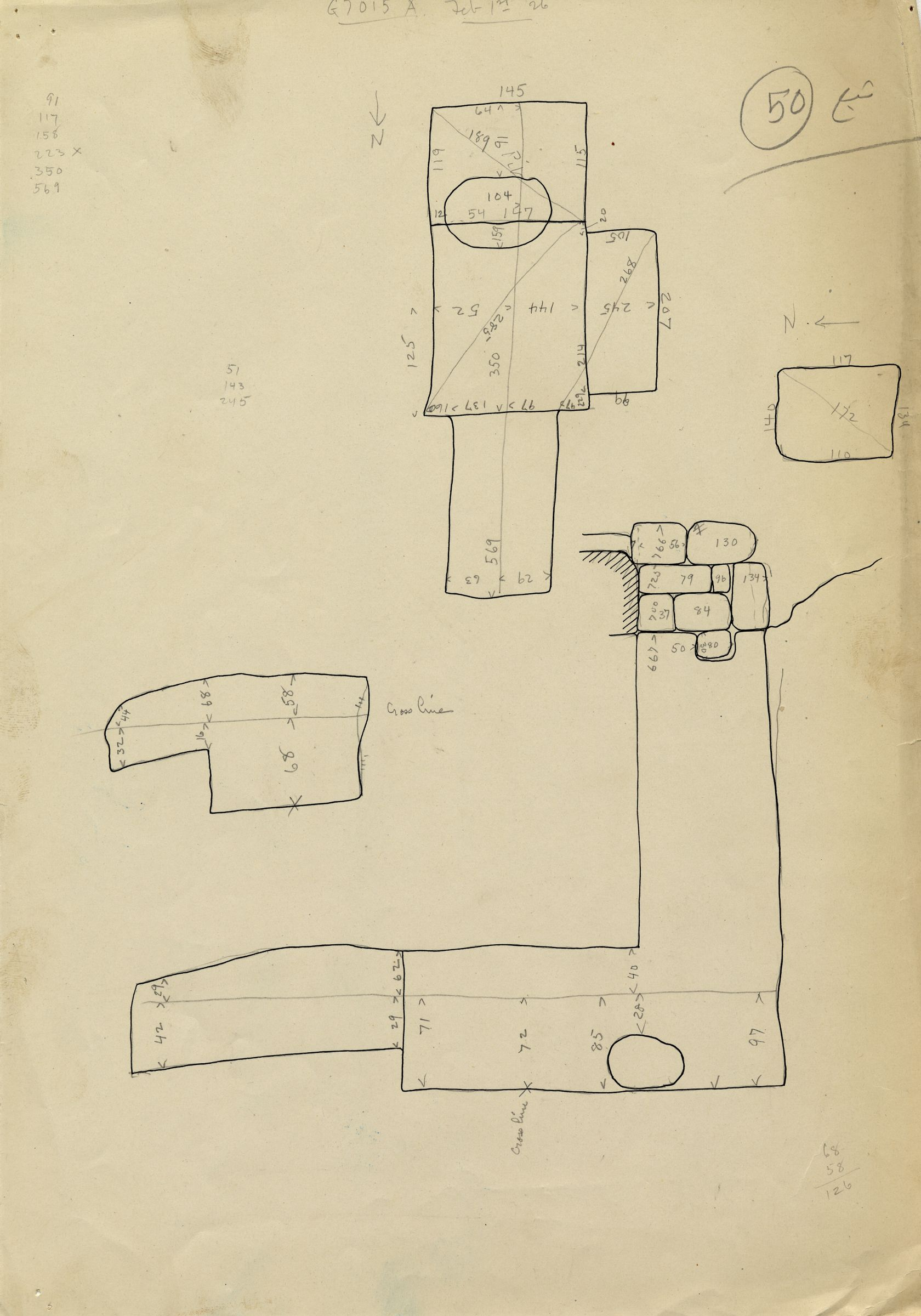 Maps and plans: G 7013, Shaft A