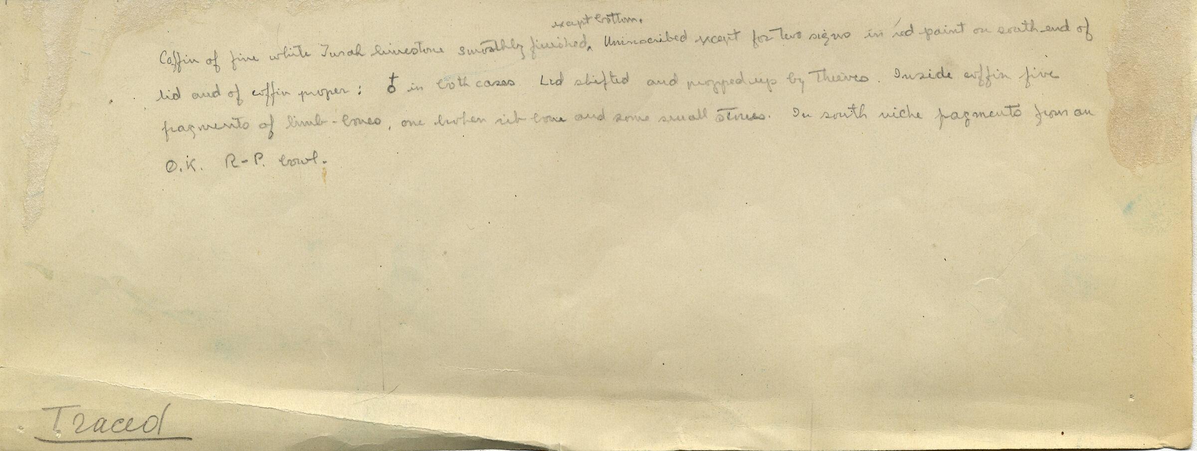 Notes: G 7060, Shaft B