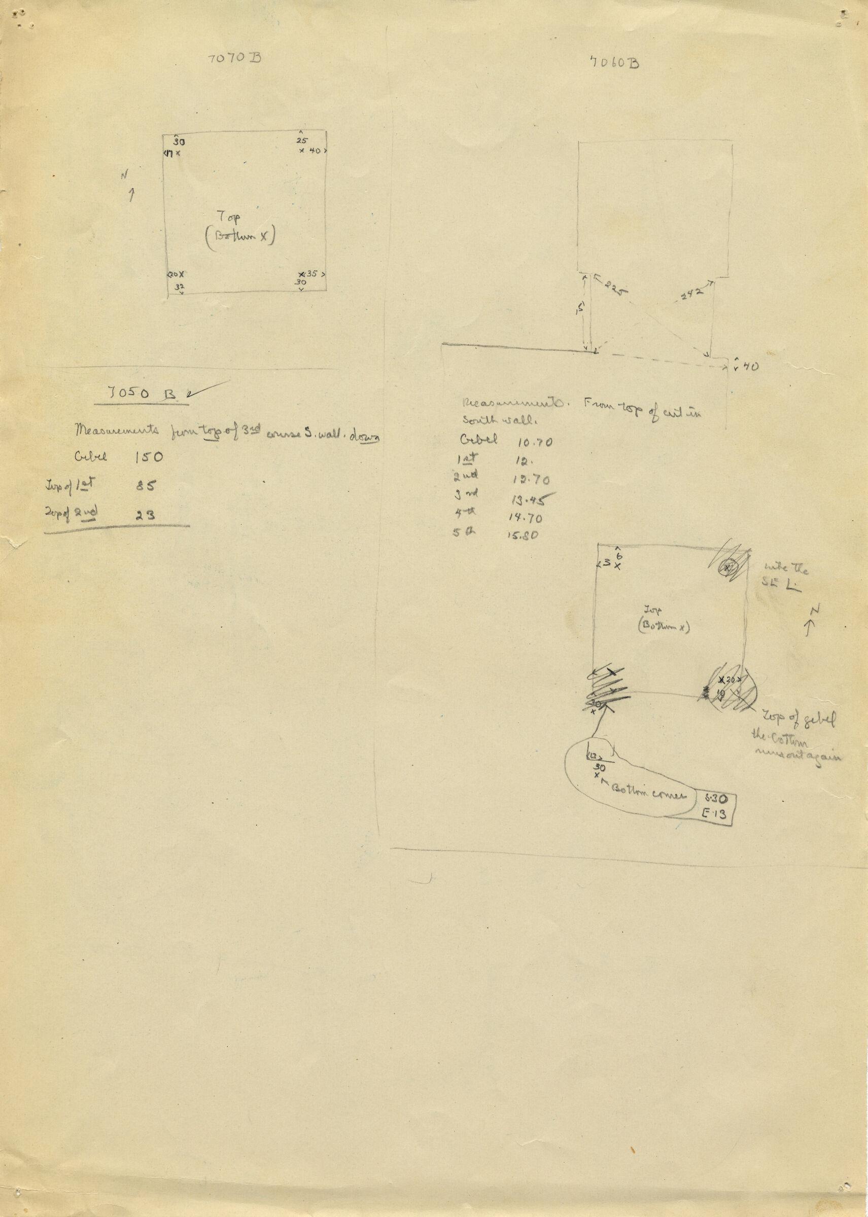 Maps and plans: G 7050, Shaft B & G 7060, Shaft B & G 7070, Shaft B