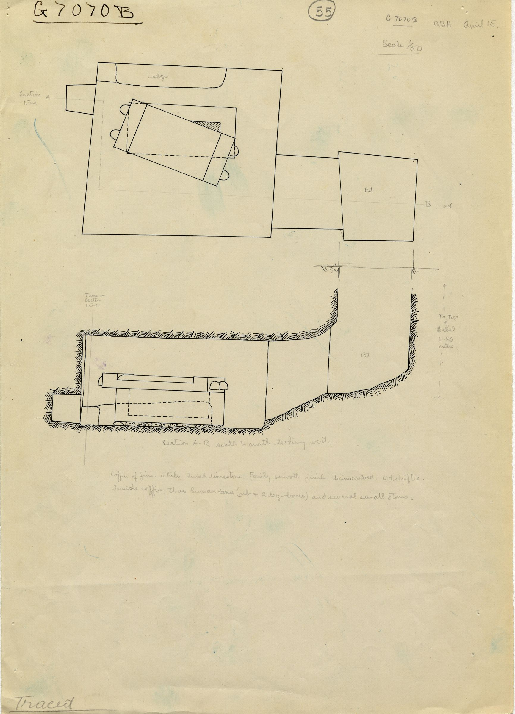 Maps and plans: G 7070, Shaft B