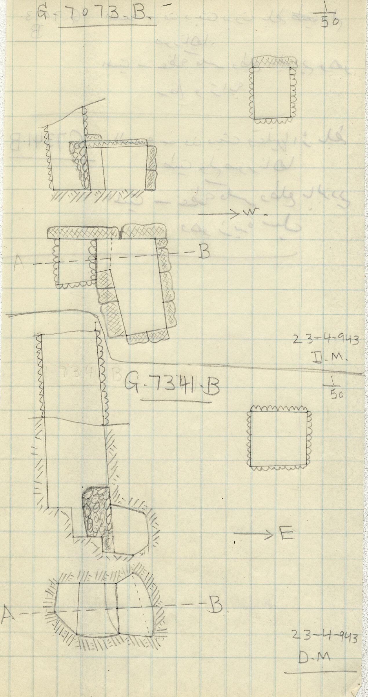Maps and plans: G 7073, Shaft B & G 7341, Shaft B