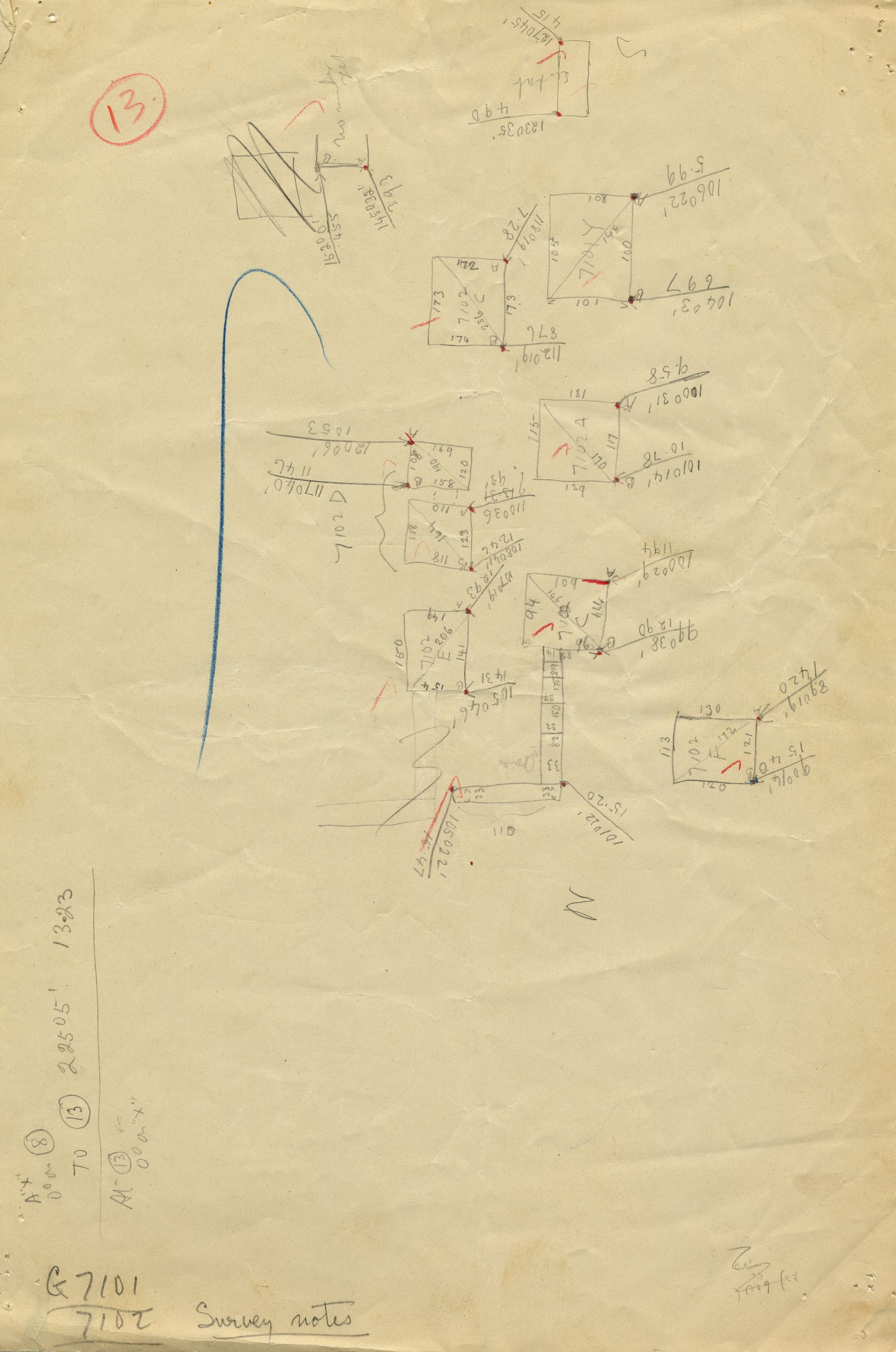Maps and plans: G 7101, Sketch plan of shafts