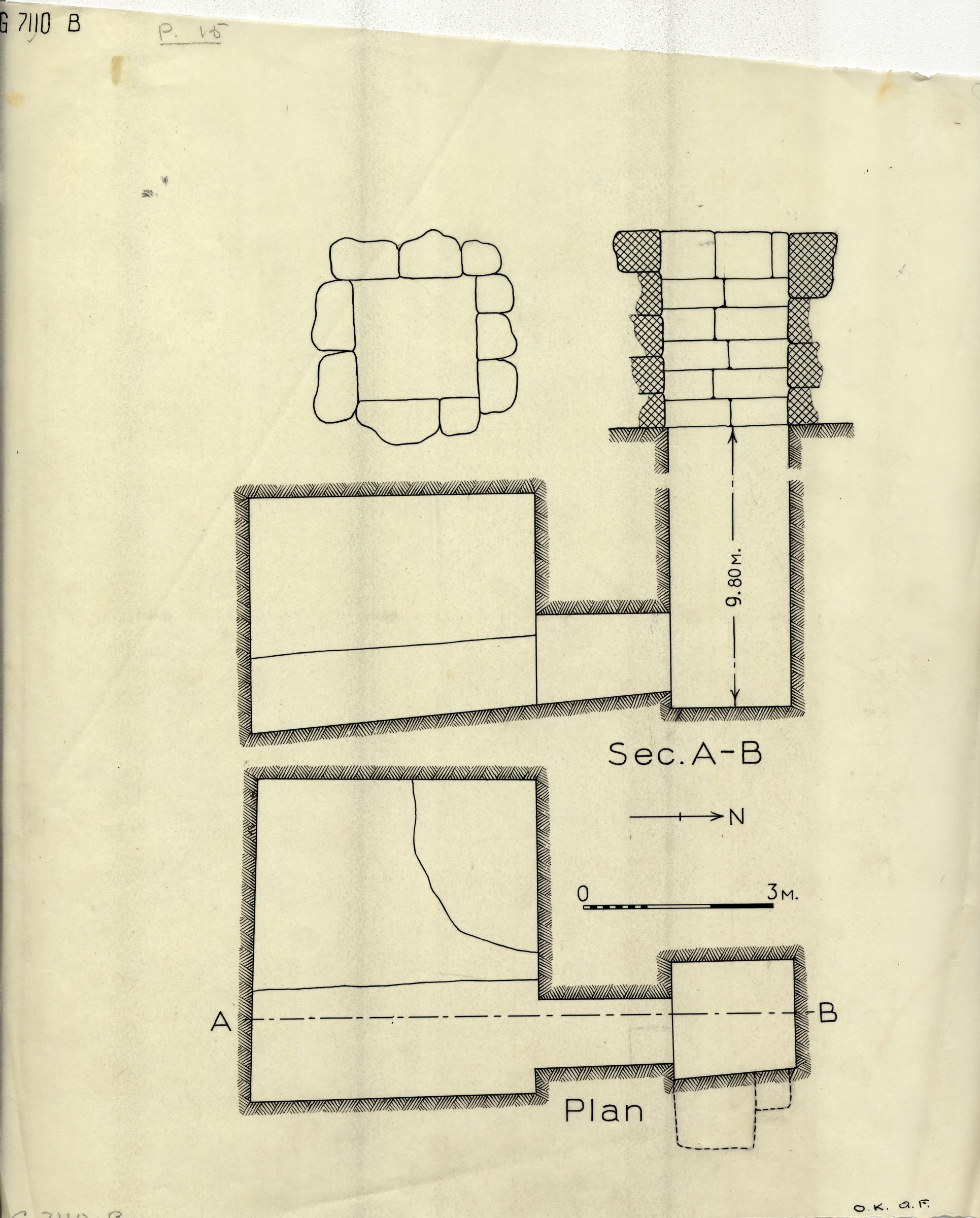 Maps and plans: G 7110-7120: G 7110, Shaft B