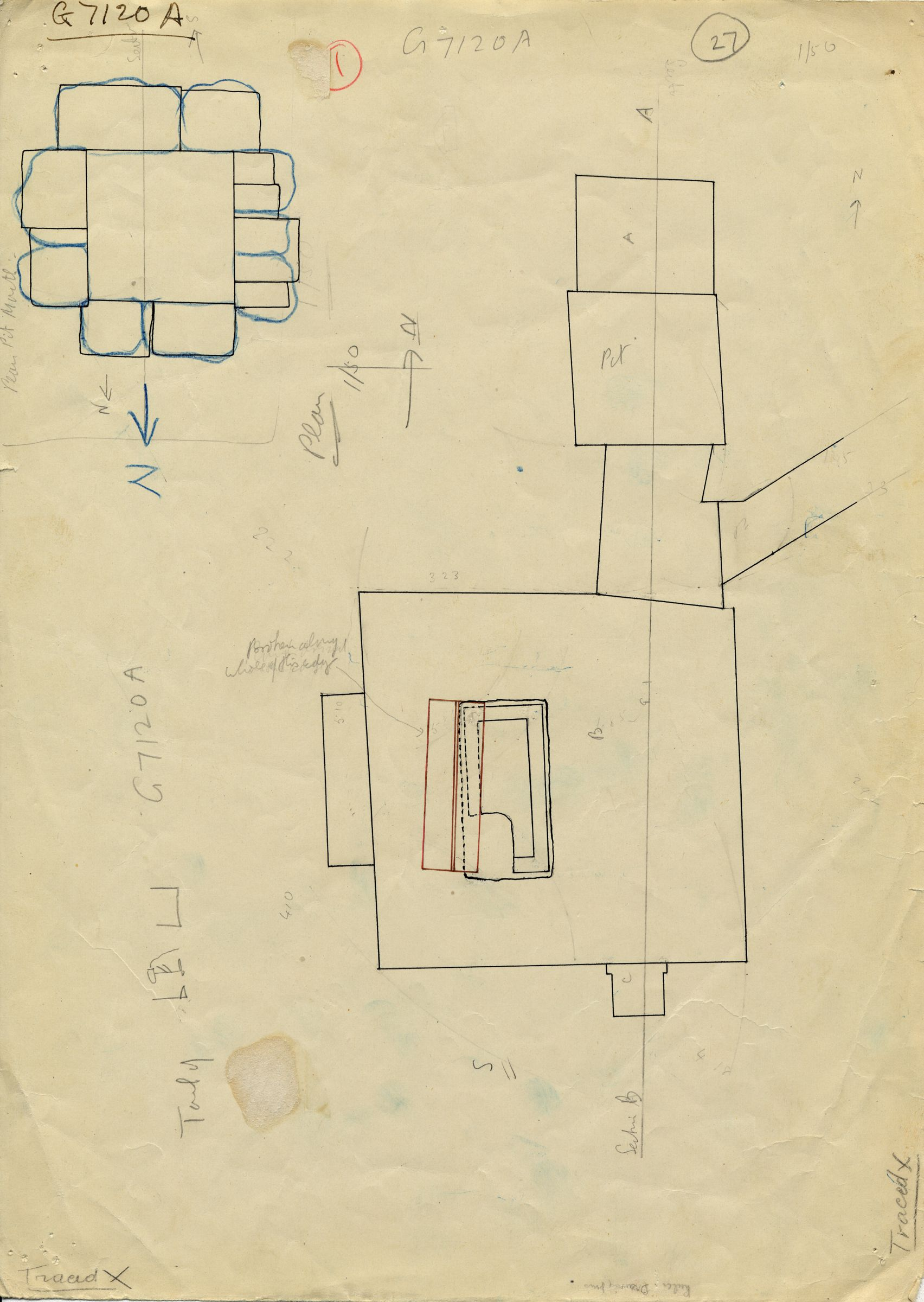 Maps and plans: G 7110-7120; G 7120, Shaft A