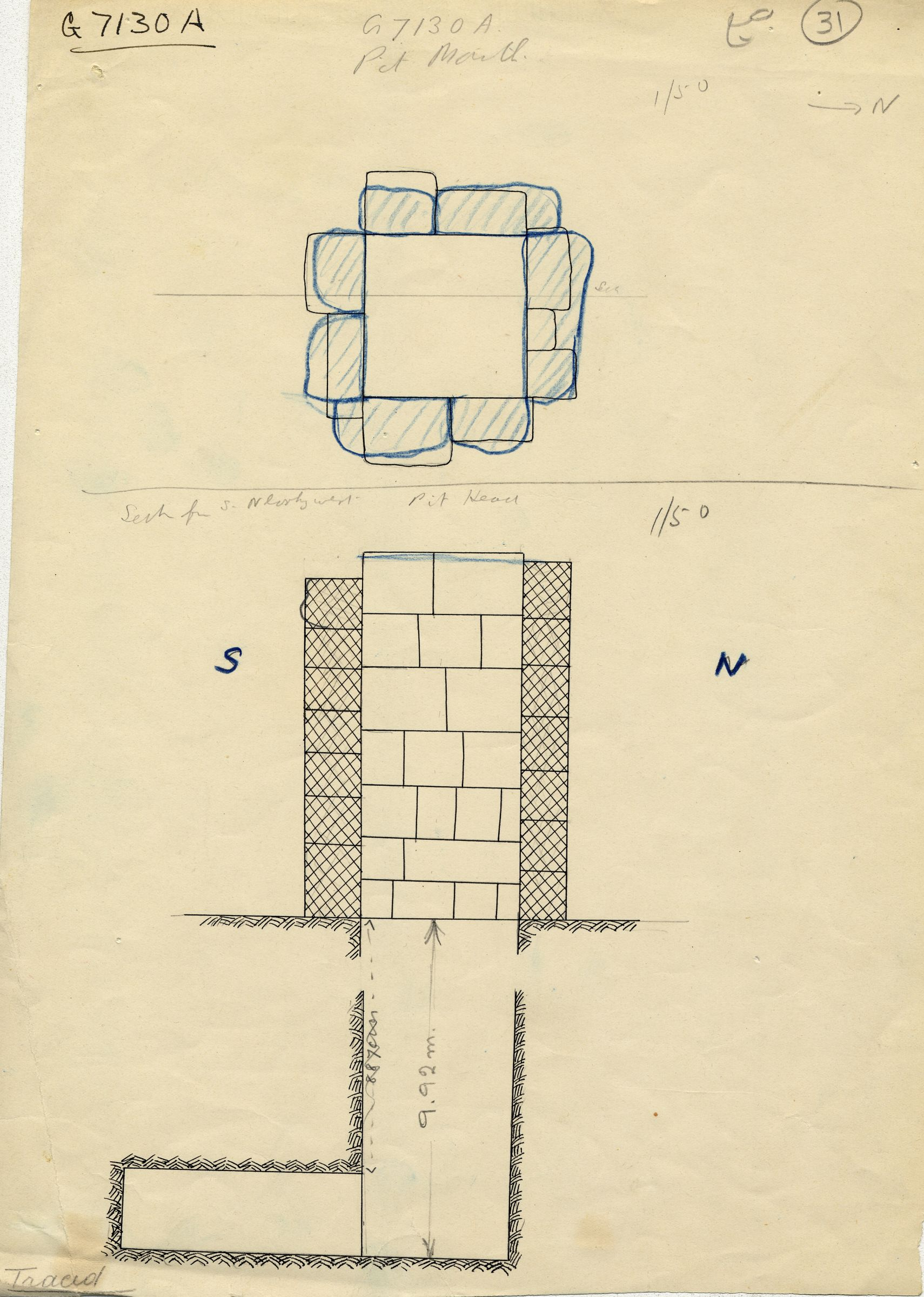 Maps and plans: G 7130-7140: G 7130, Shaft A