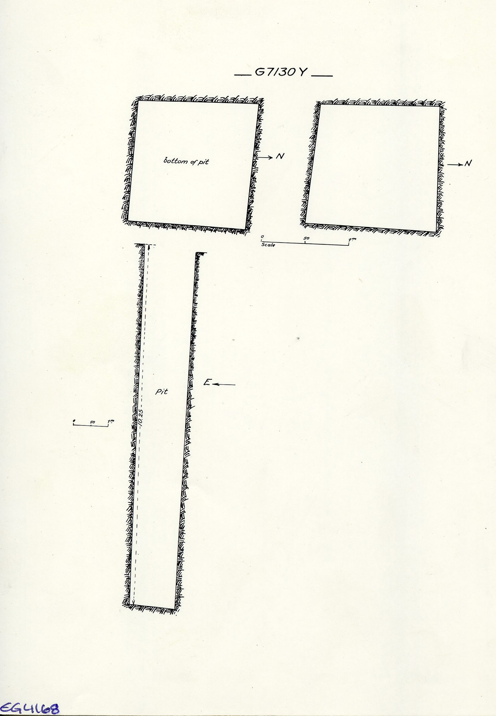 Maps and plans: G 7130, Shaft Y (= G 7133)