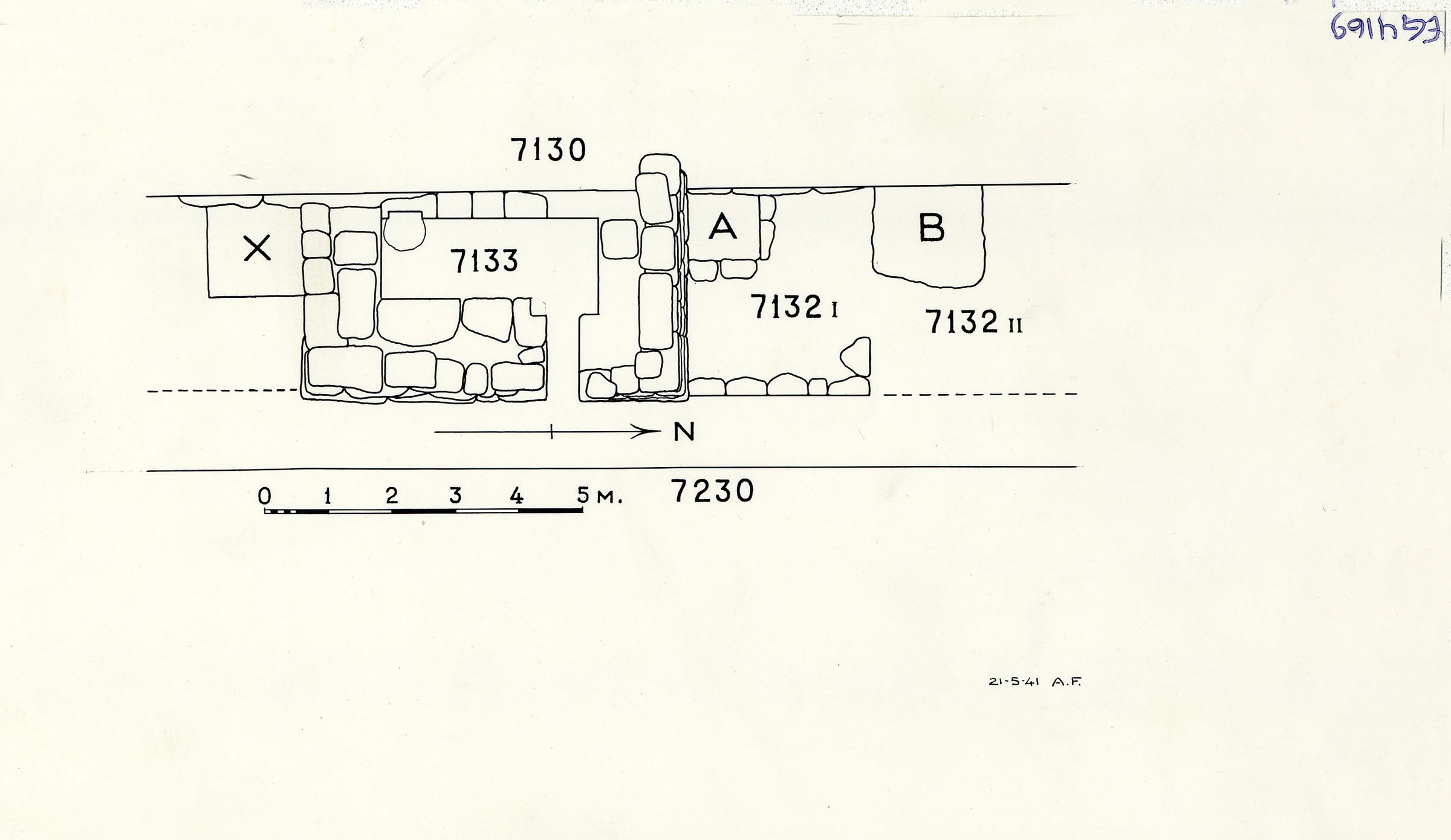 Maps and plans: Plan of G 7132 and G 7133, with position of G 7130-7140 and G 7230-7240