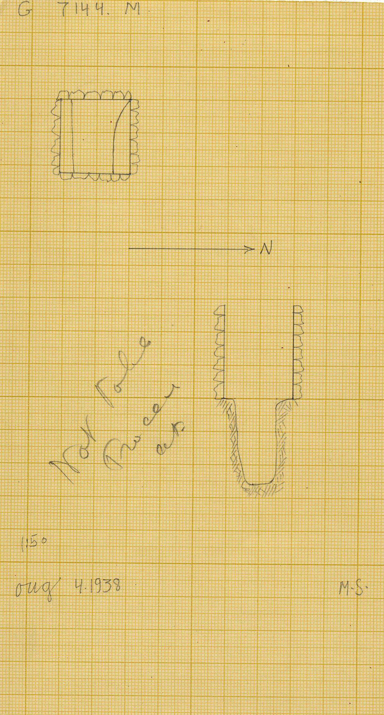 Maps and plans: G 7144, Shaft M