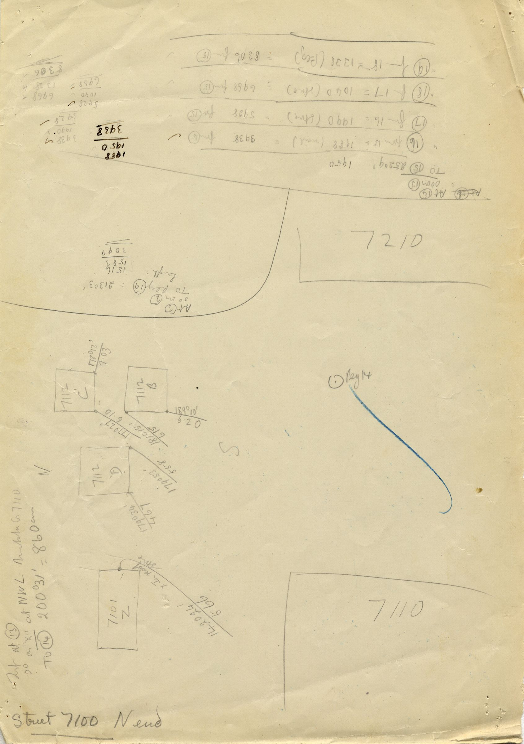 Maps and plans: Street G 7100