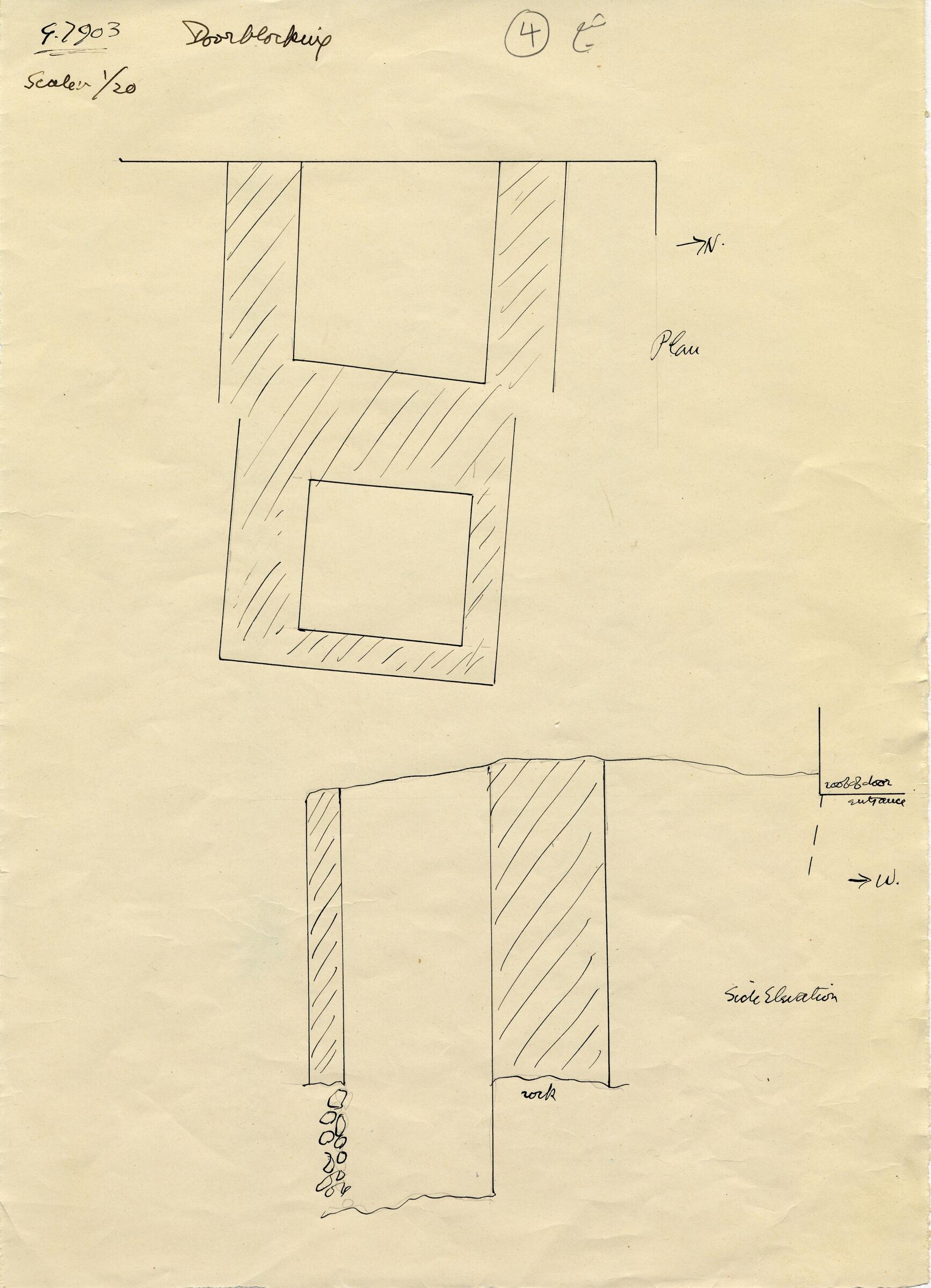 Maps and plans: G 7903, Door blocking
