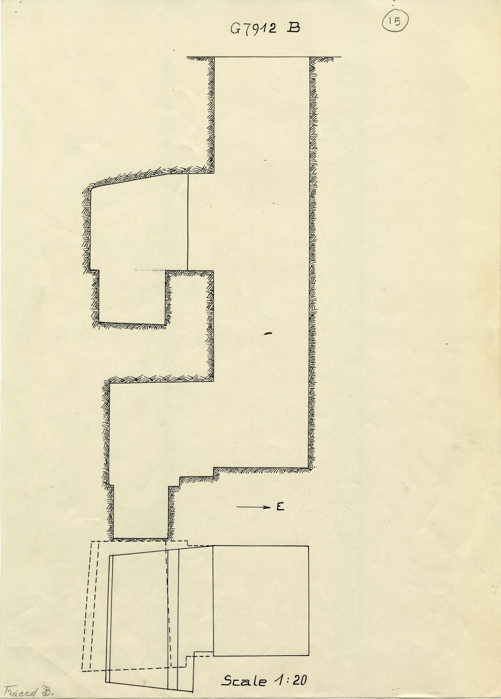 Maps and plans: G 7912, Shaft B