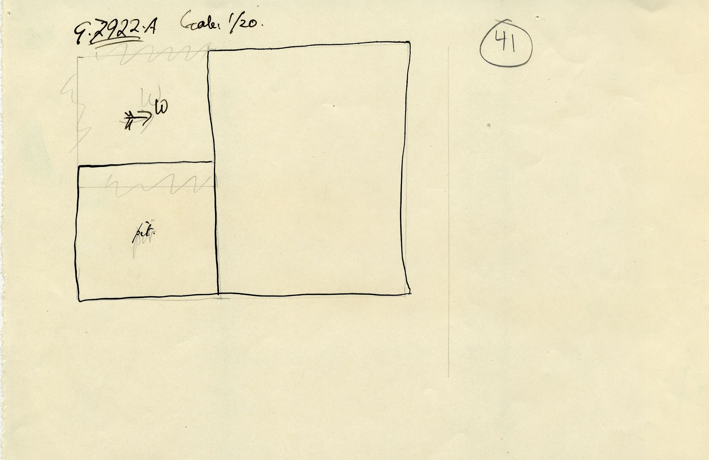 Maps and plans: G 7922, Shaft A