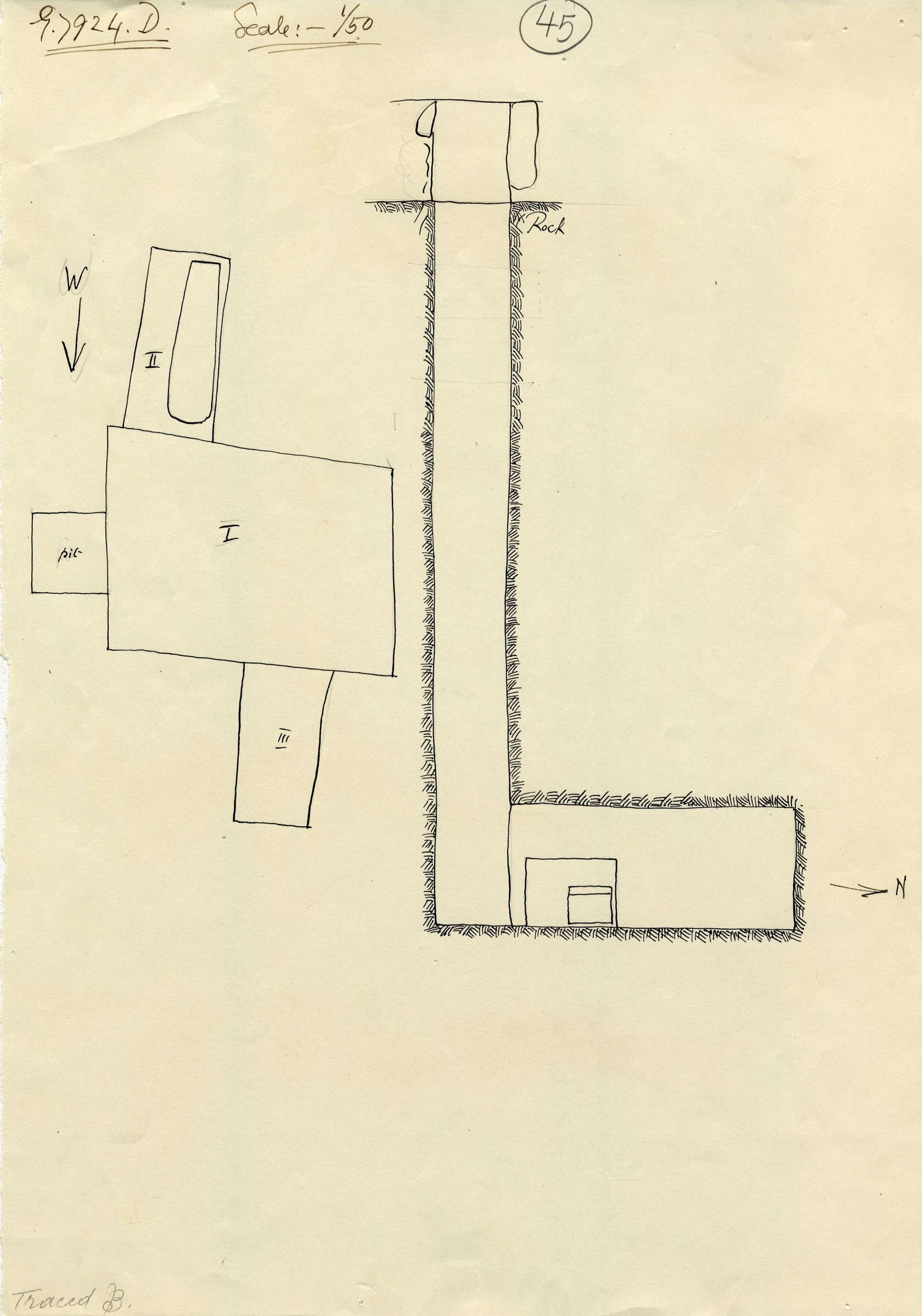 Maps and plans: G 7924b, Shaft D