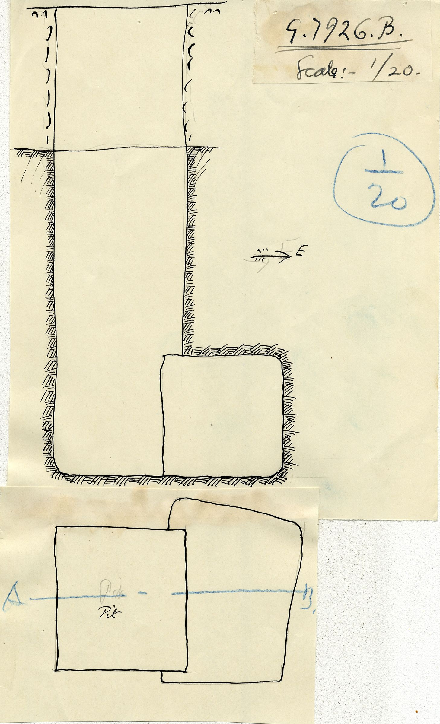 Maps and plans: G 7926, Shaft B