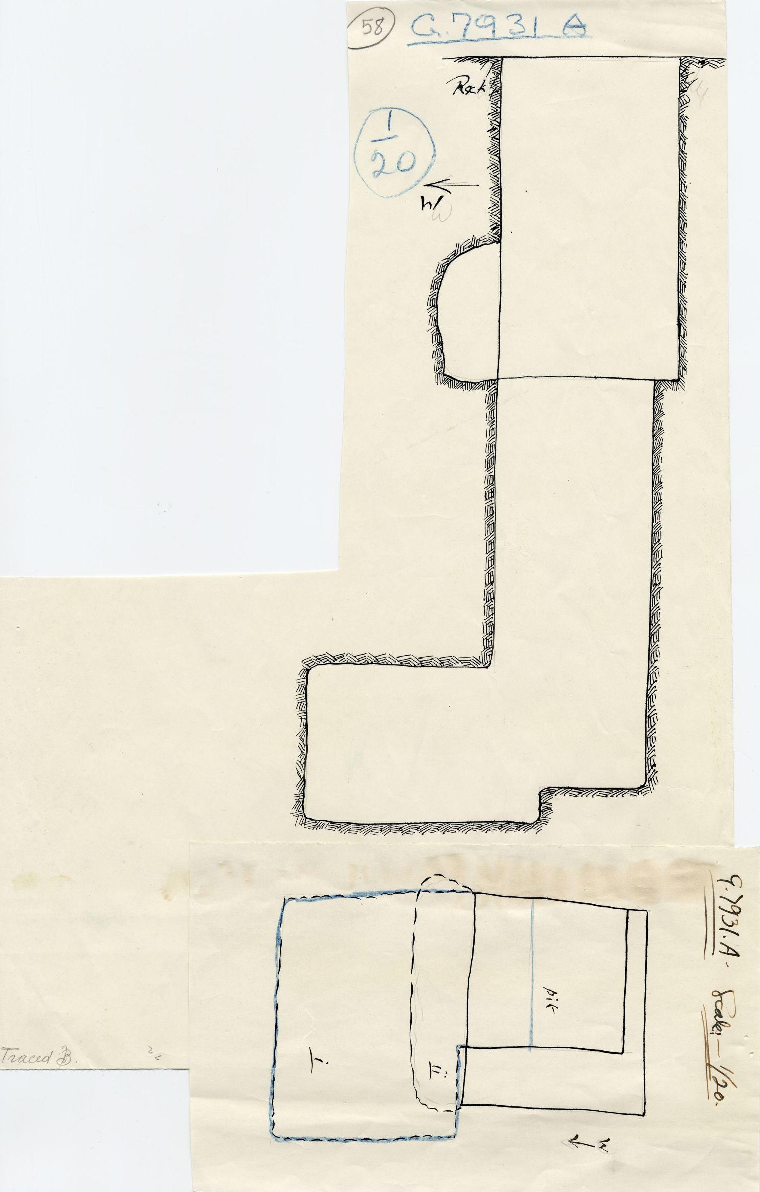 Maps and plans: G 7931a, Shaft A