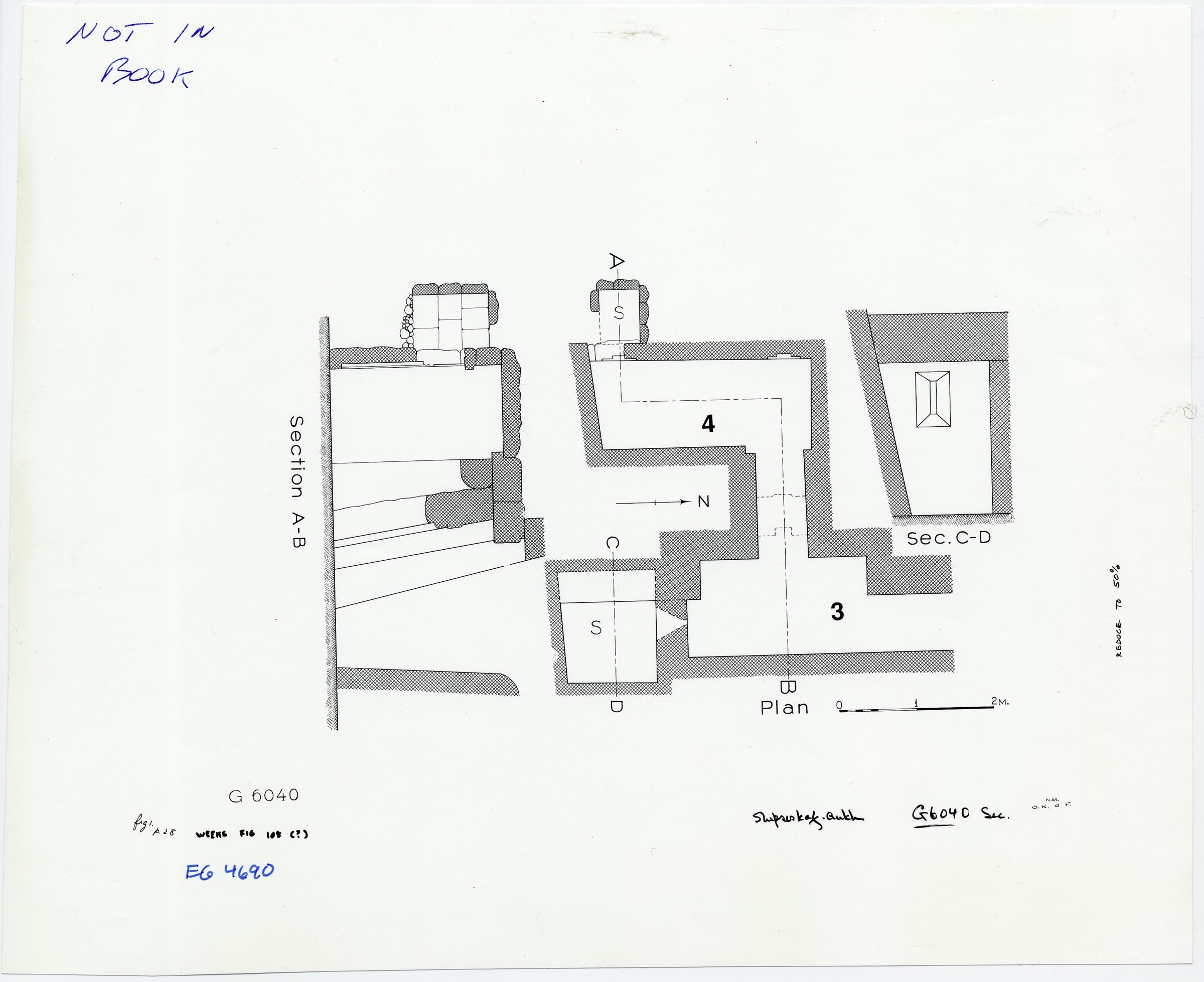 Maps and plans: G 6040, Plan and sections