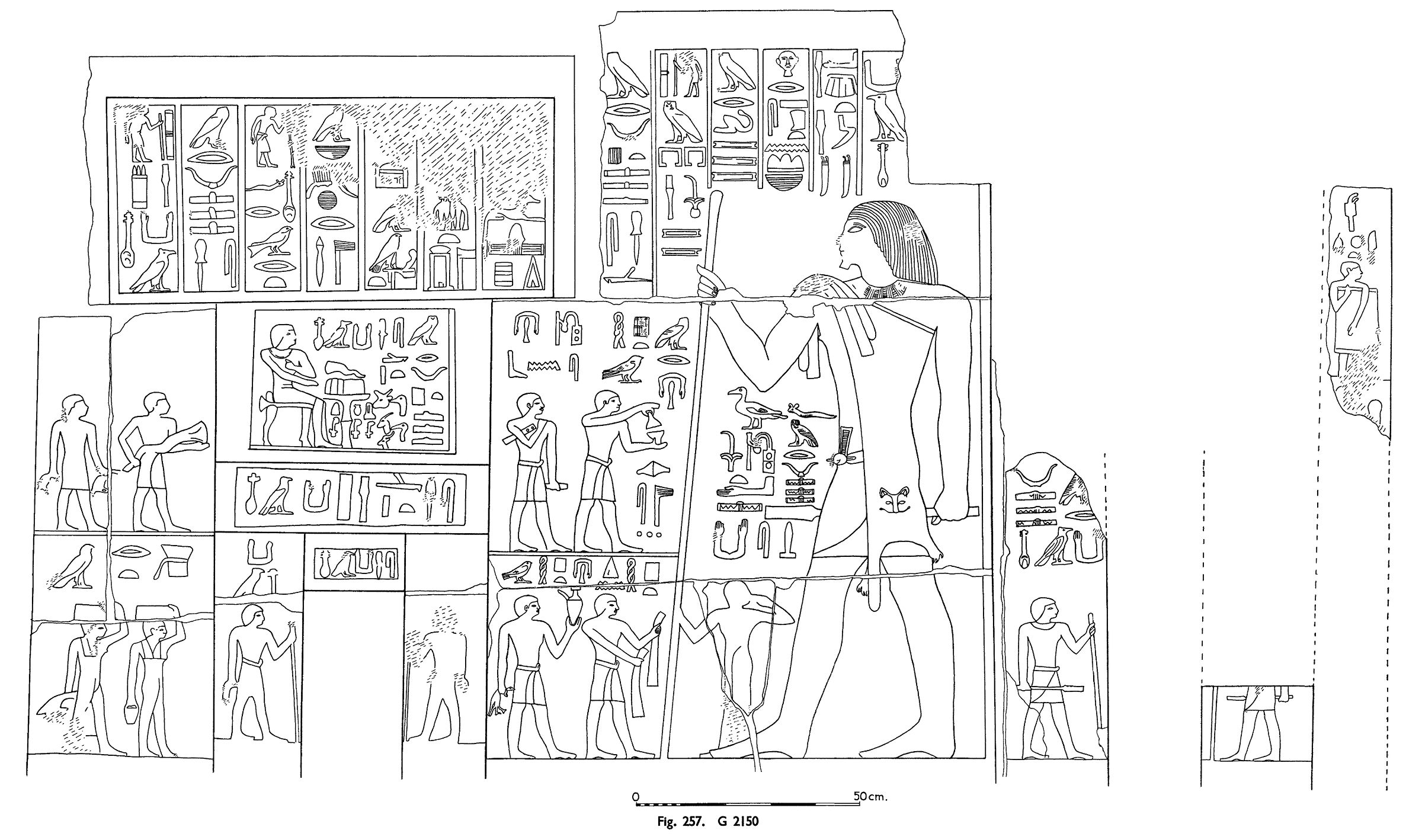 Drawings: G 2150: relief from W wall