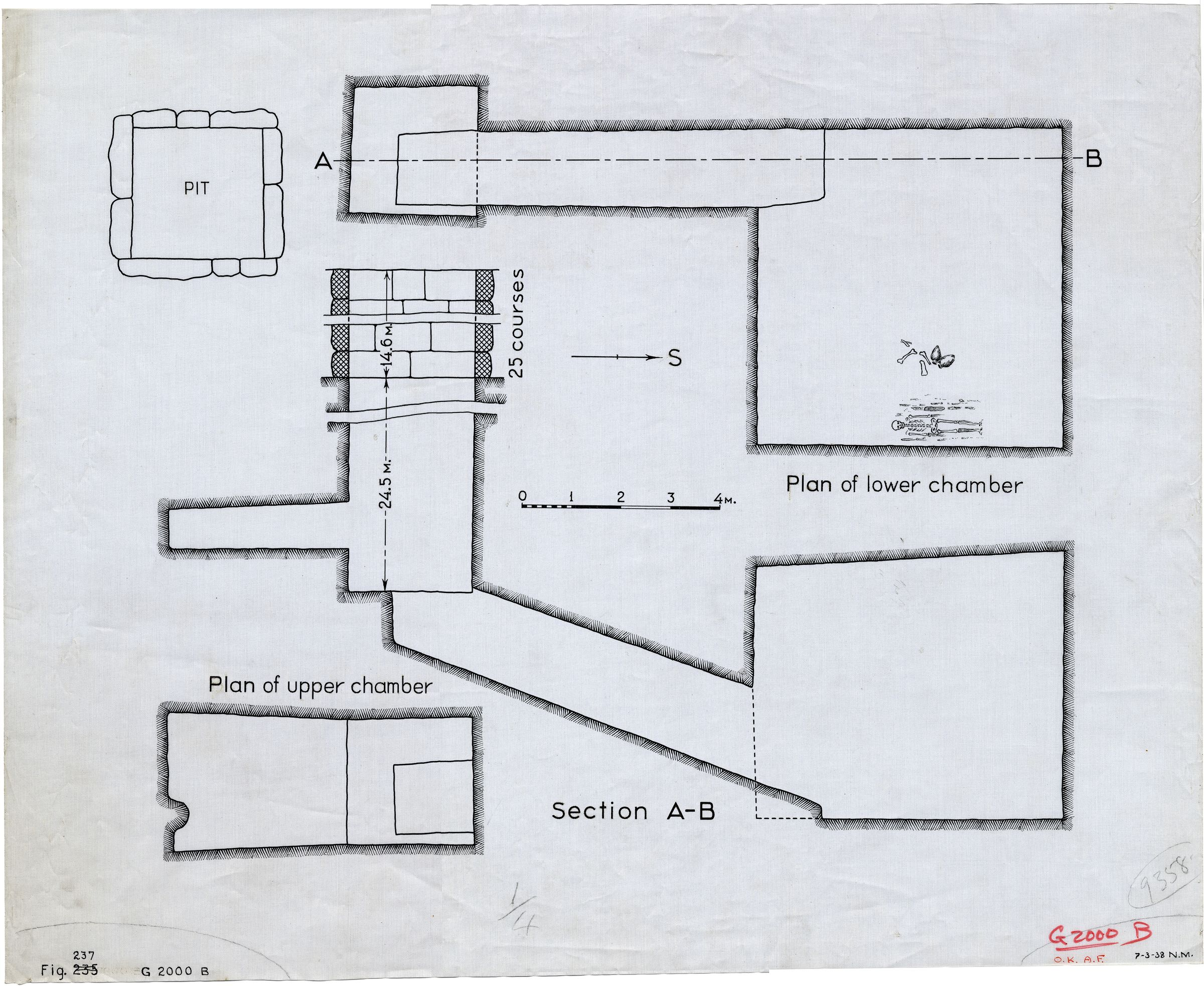 Maps and plans: G 2000 B, Plan and section