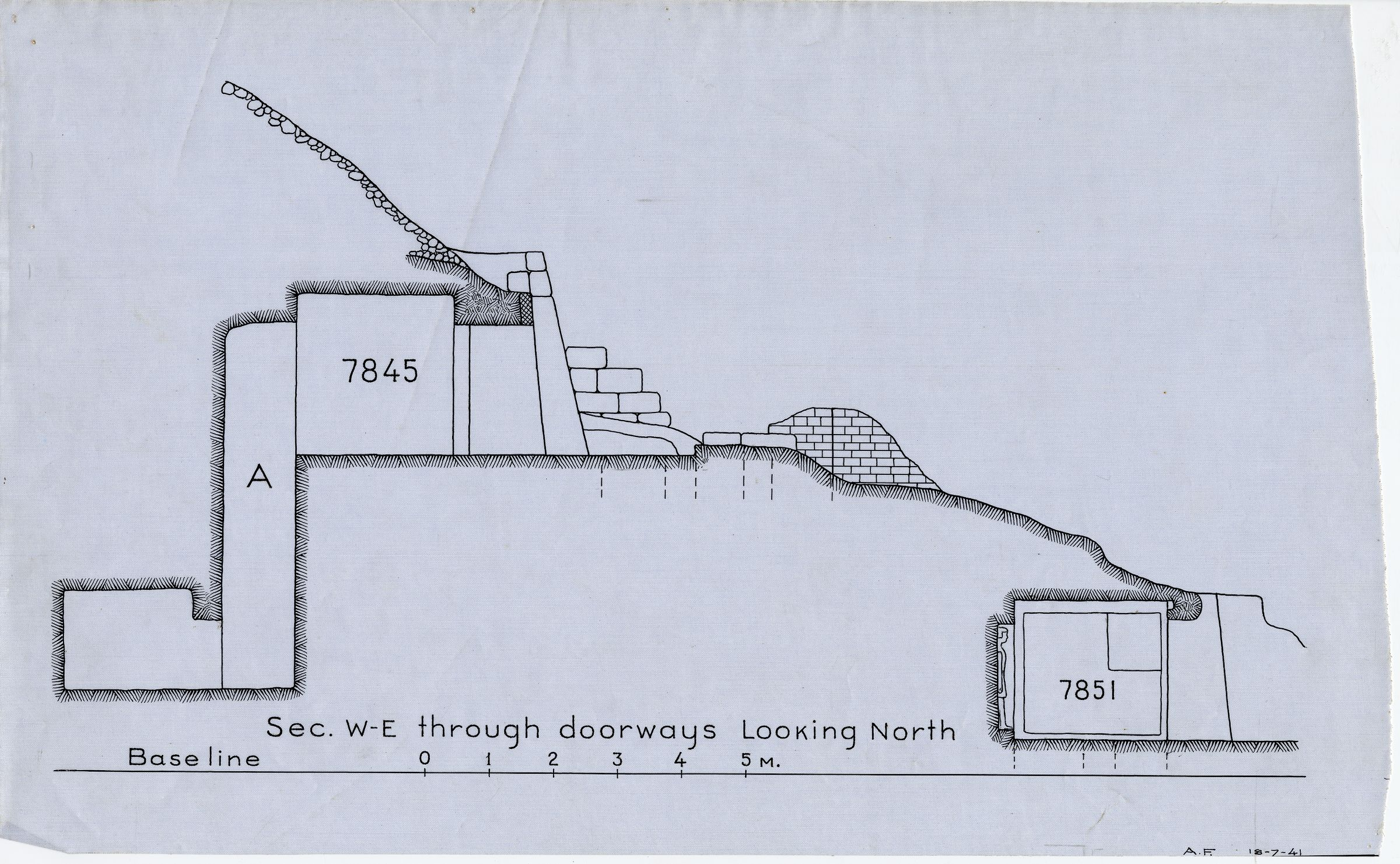 Maps and plans: Section of G 7845 and G 7851