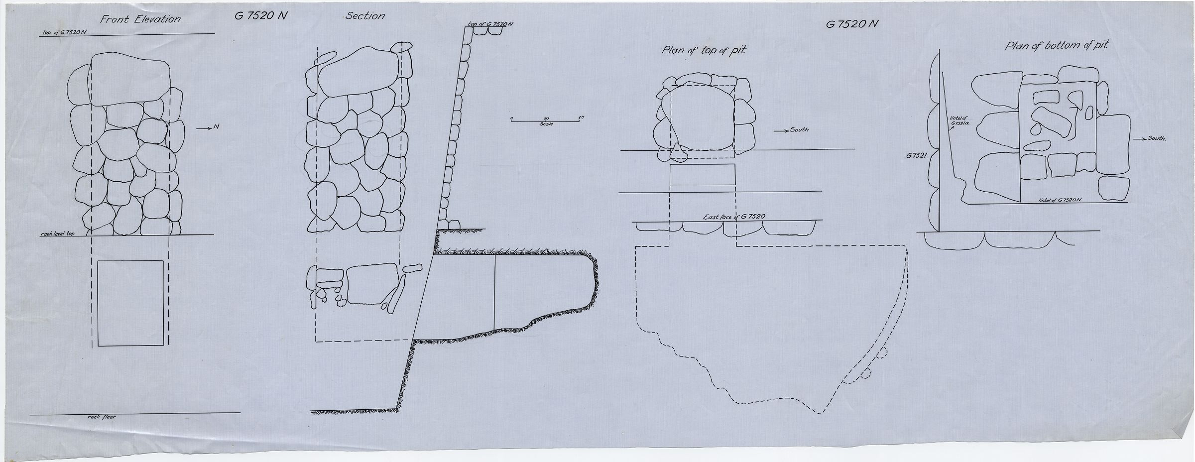 Maps and plans: G 7520, Shaft N