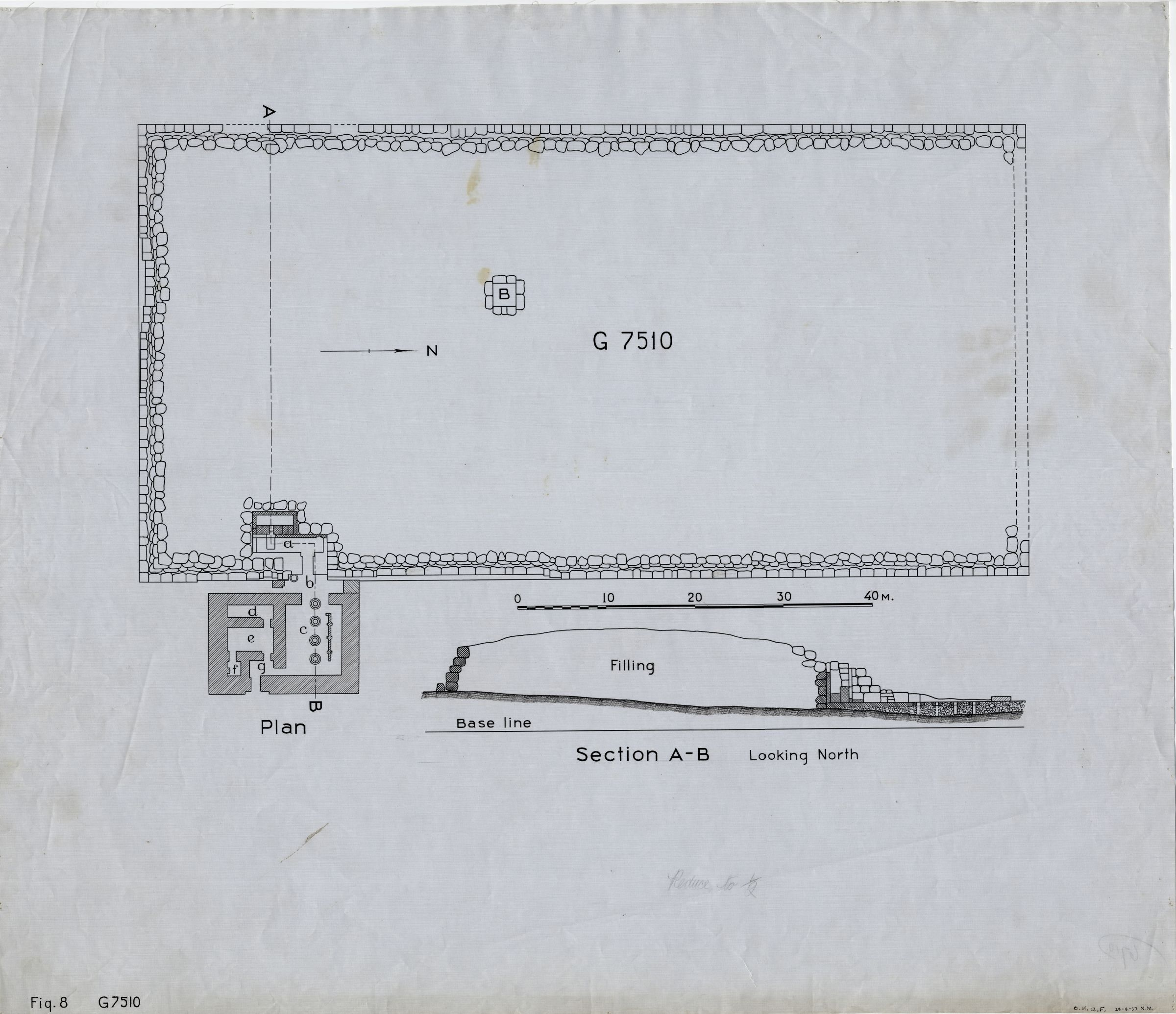 Maps and plans: G 7510, Plan and section