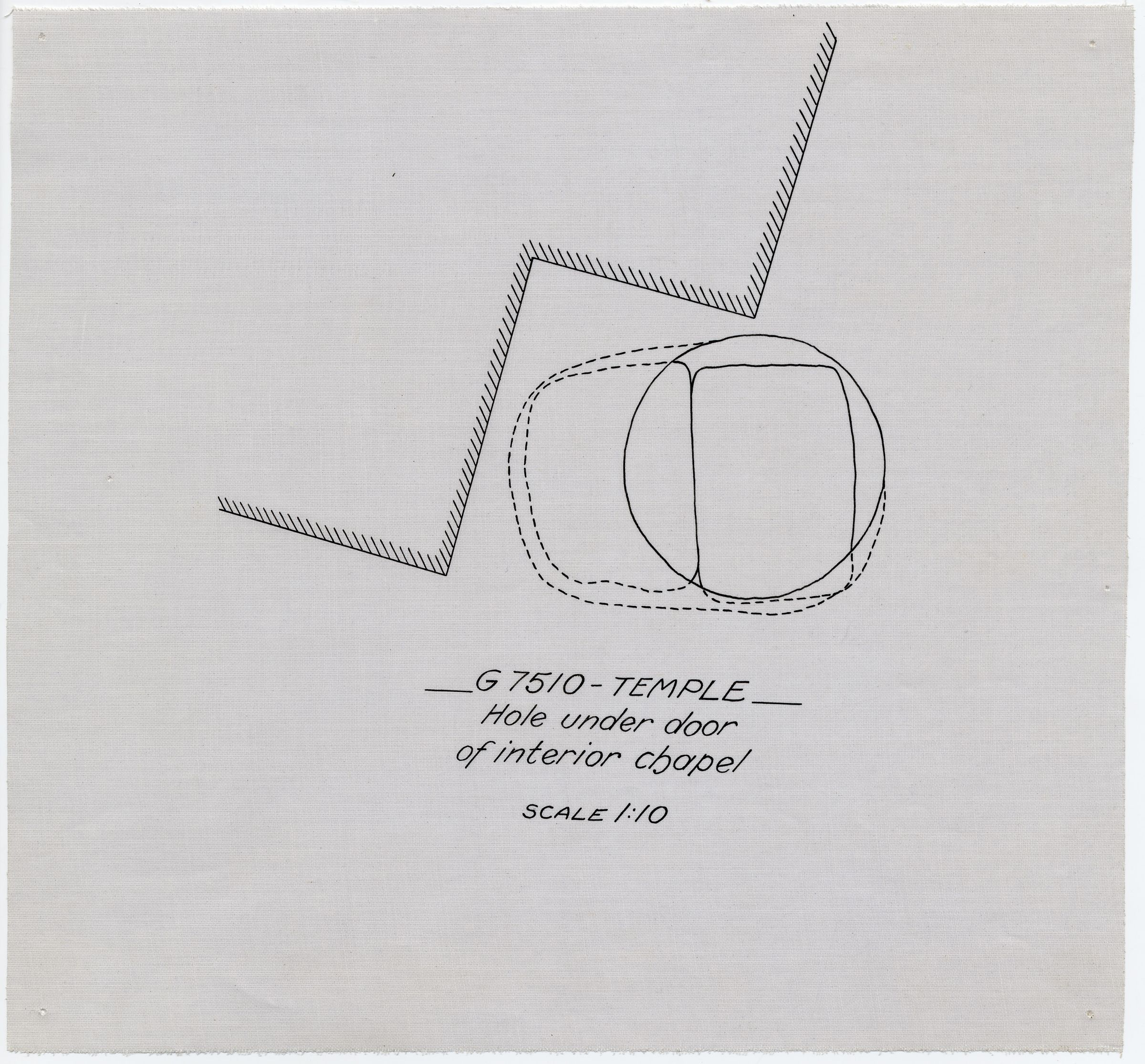 Maps and plans: Plan of G 7510, Plan of chapel, hole under door