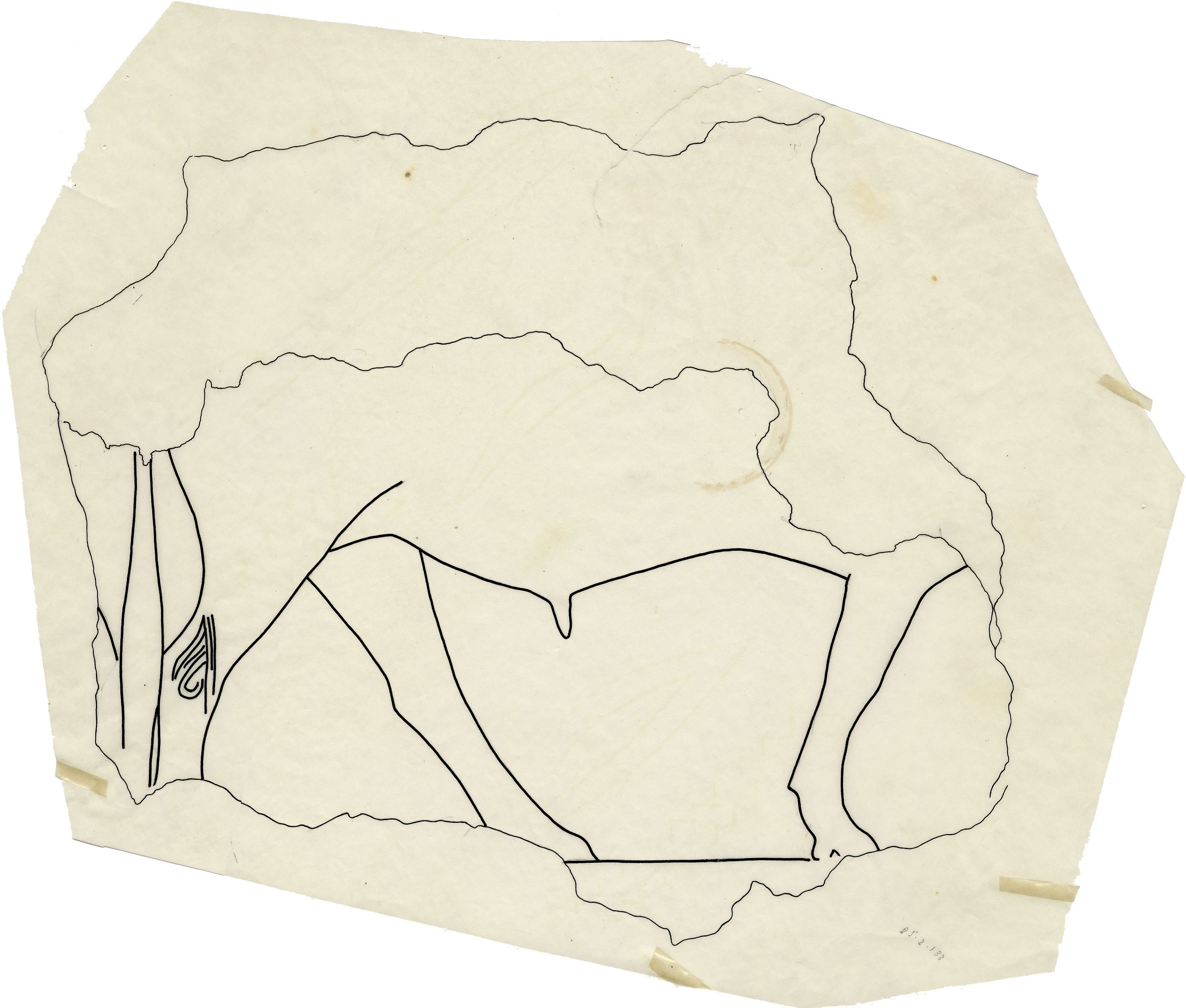 Drawings: G 7510: fragment of relief from interior chapel