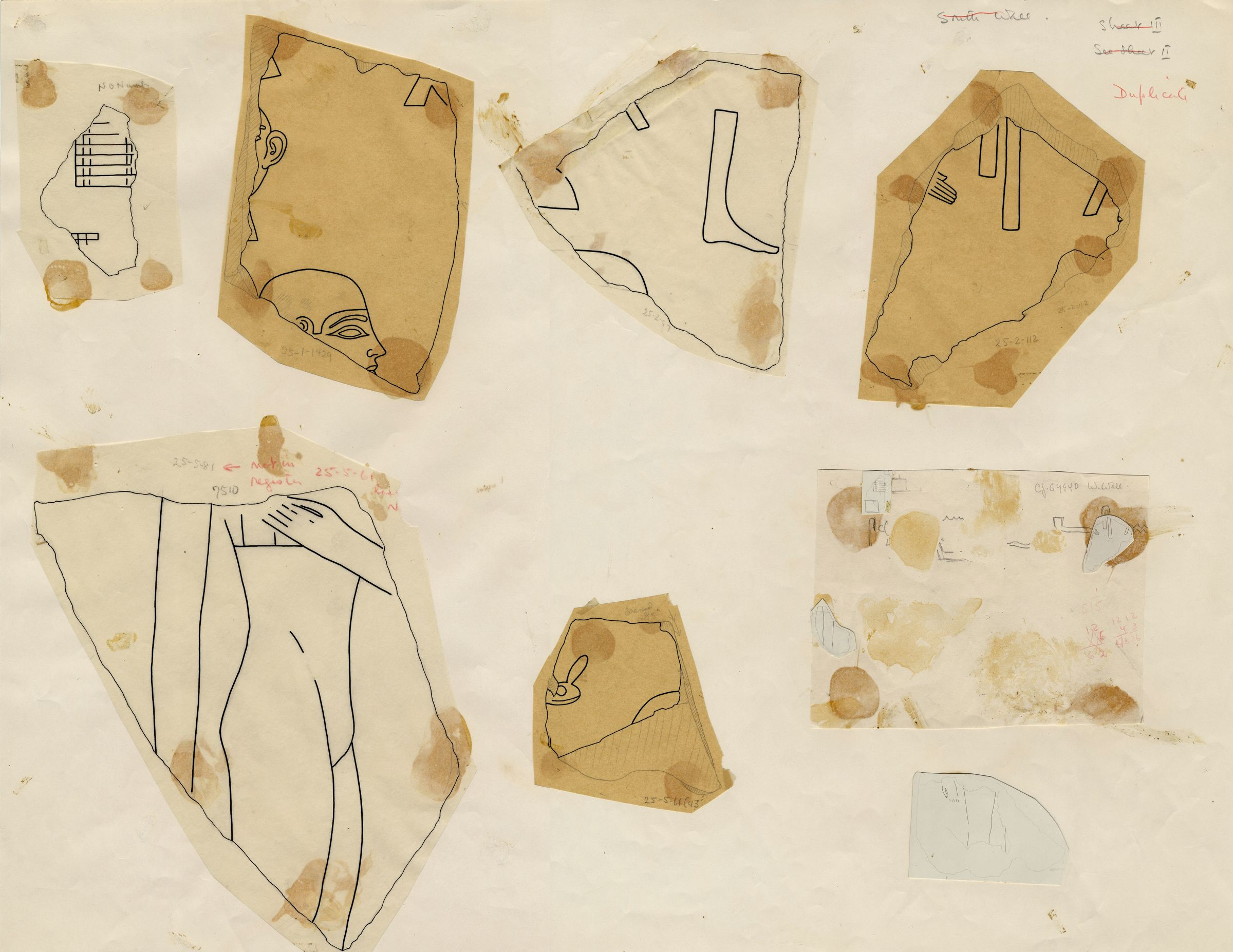 Drawings: Relief fragments from G 4940 and G 7510