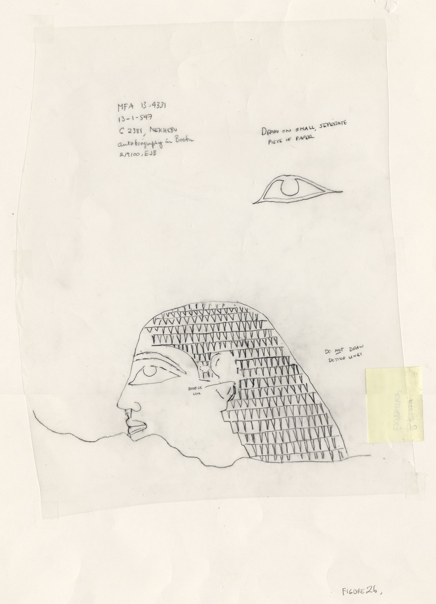 Drawings: G 2381: block of autobiographical inscription