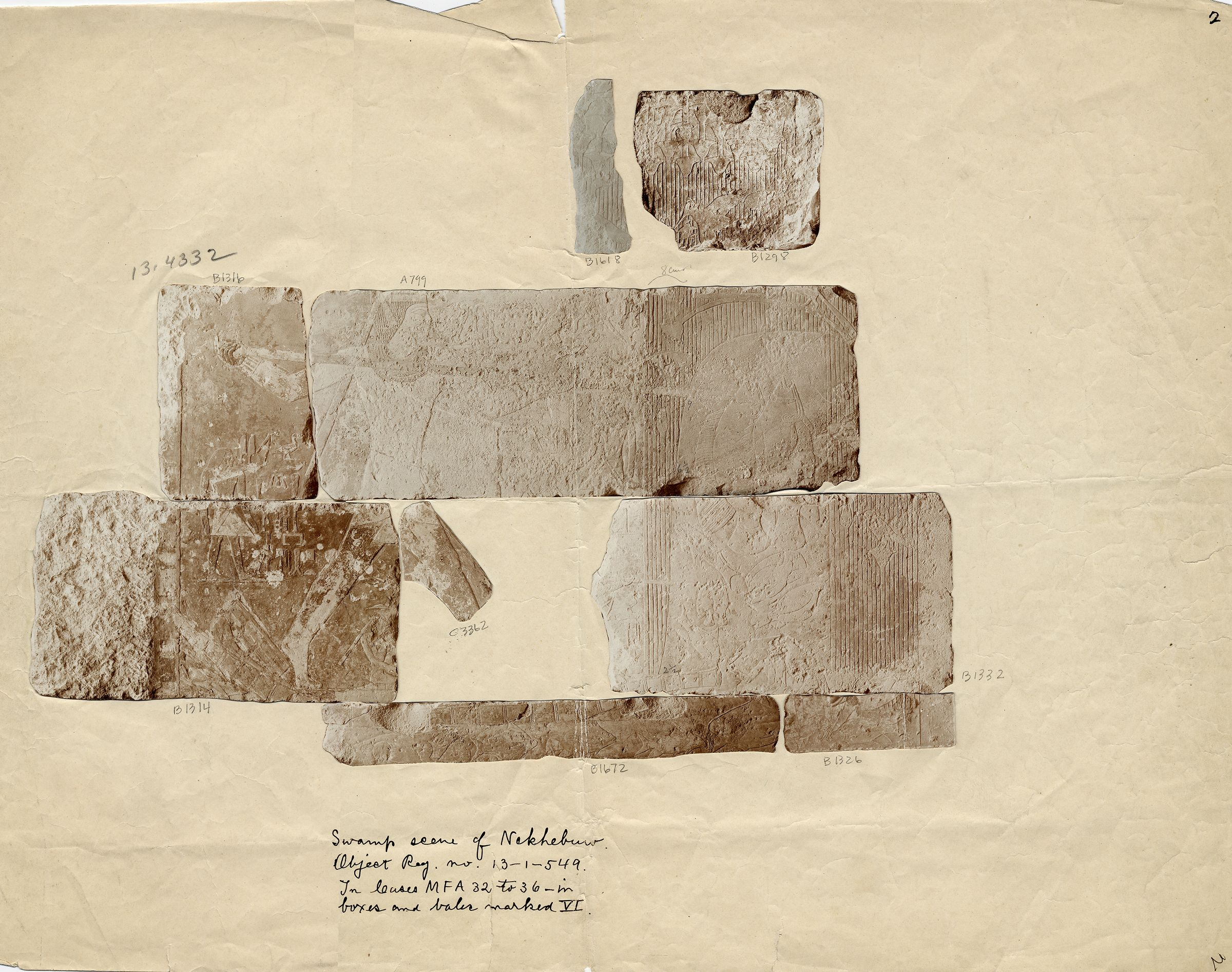 Drawings: G 2381: relief from blocks