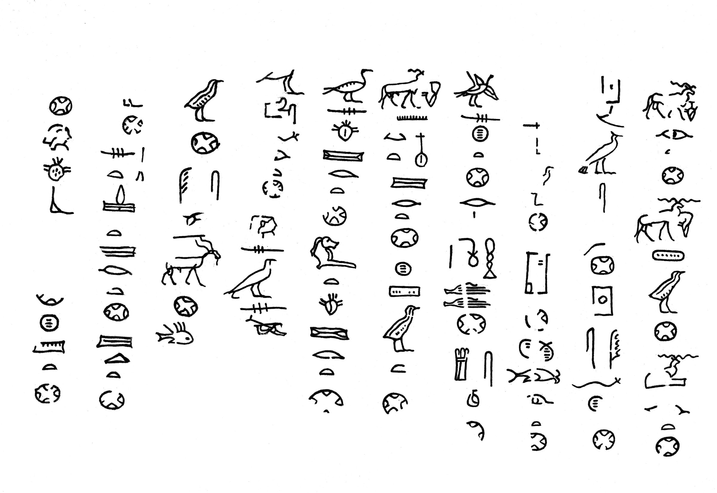 Drawings: G 2000: inscription from scribal writing board