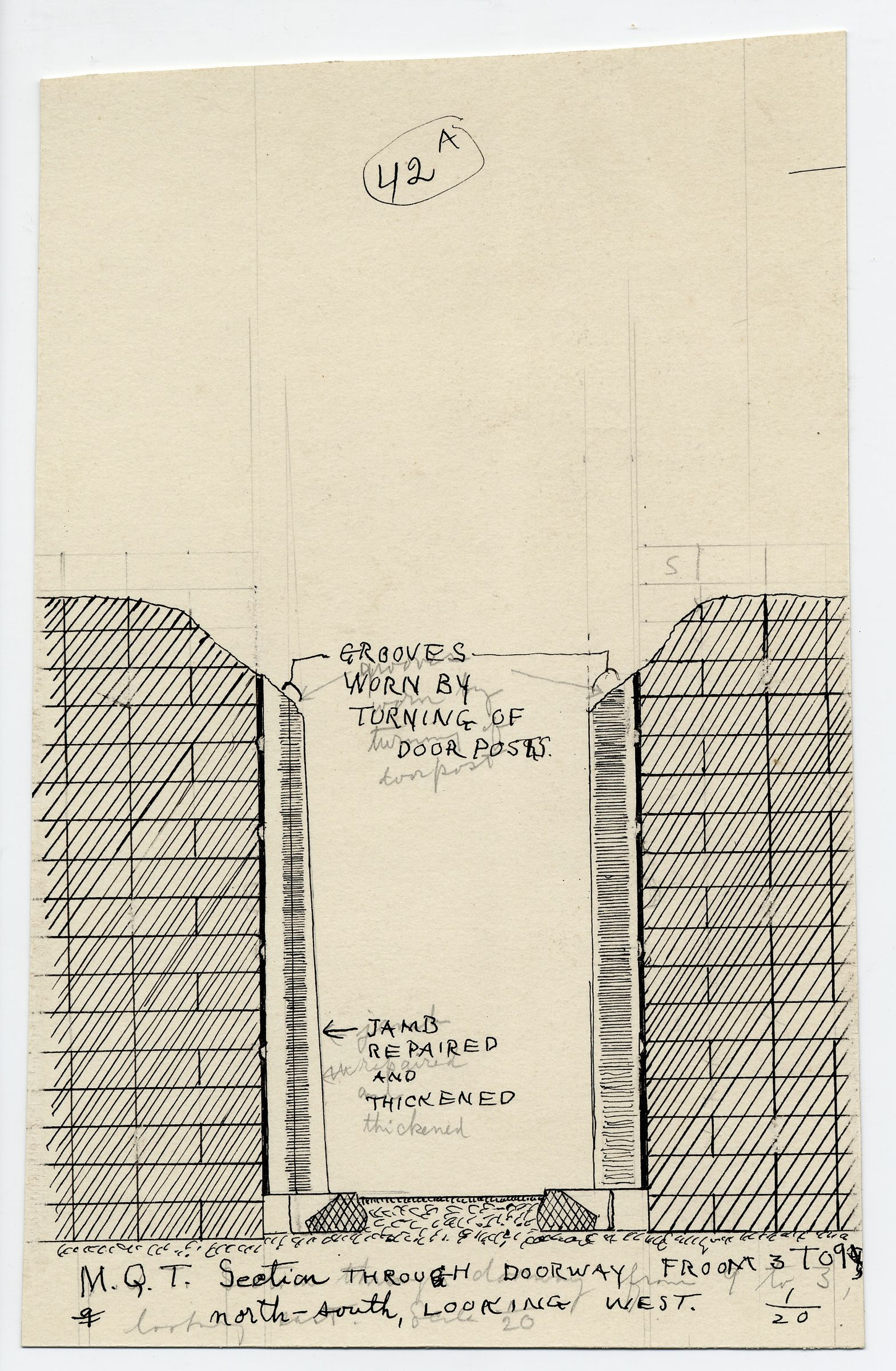 Maps and plans: Section of G III-a Temple