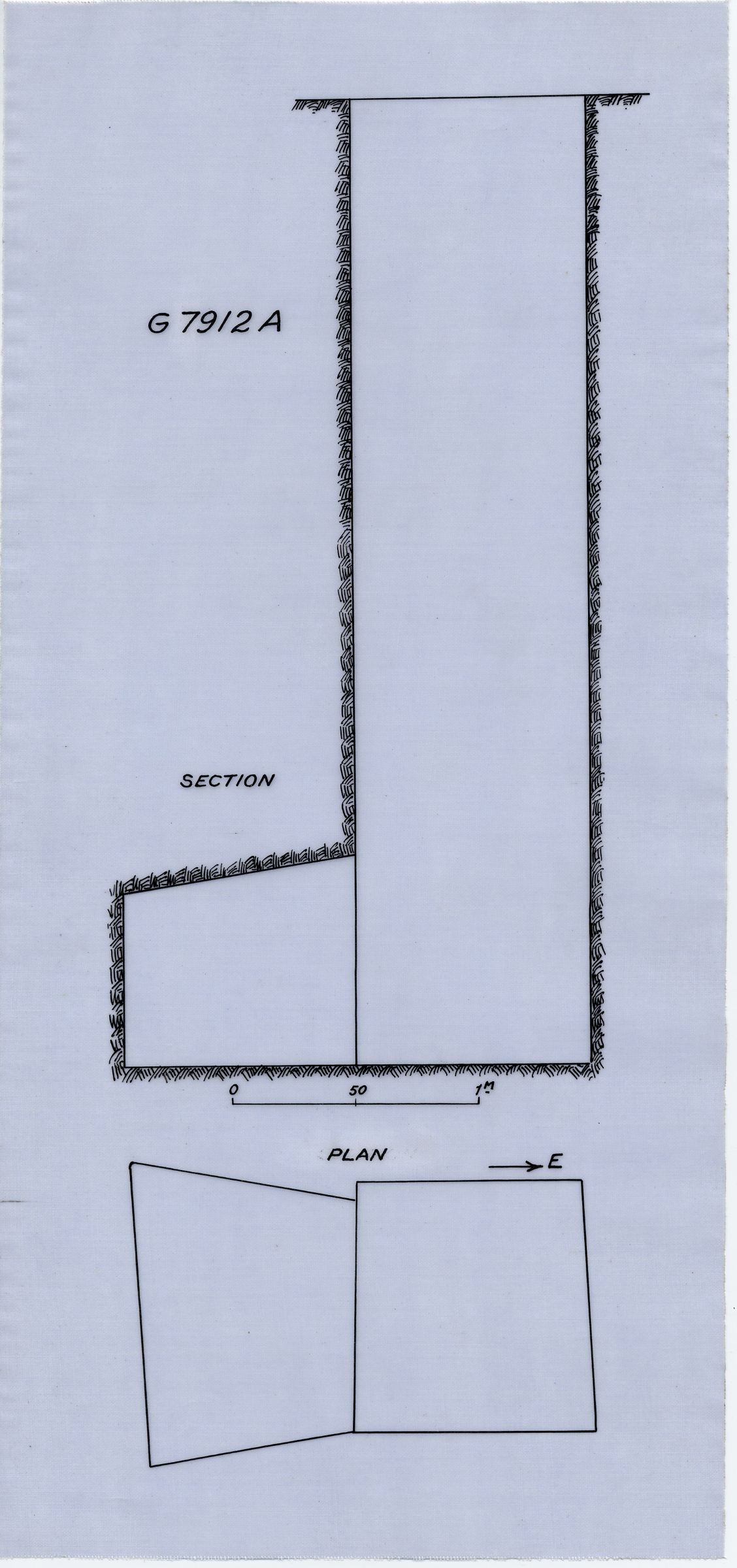 Maps and plans: G 7912, Shaft A
