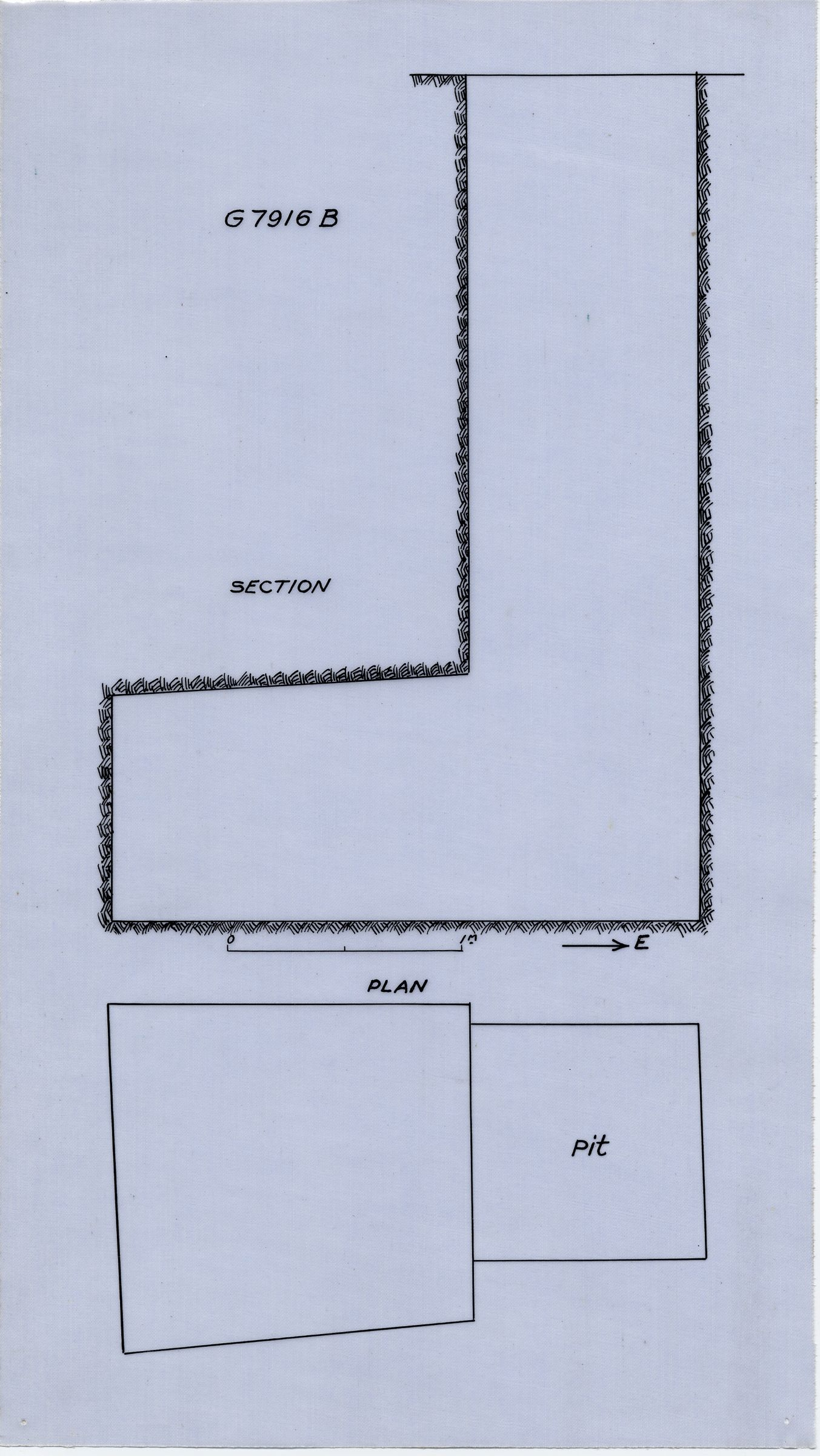 Maps and plans: G 7916, Shaft B