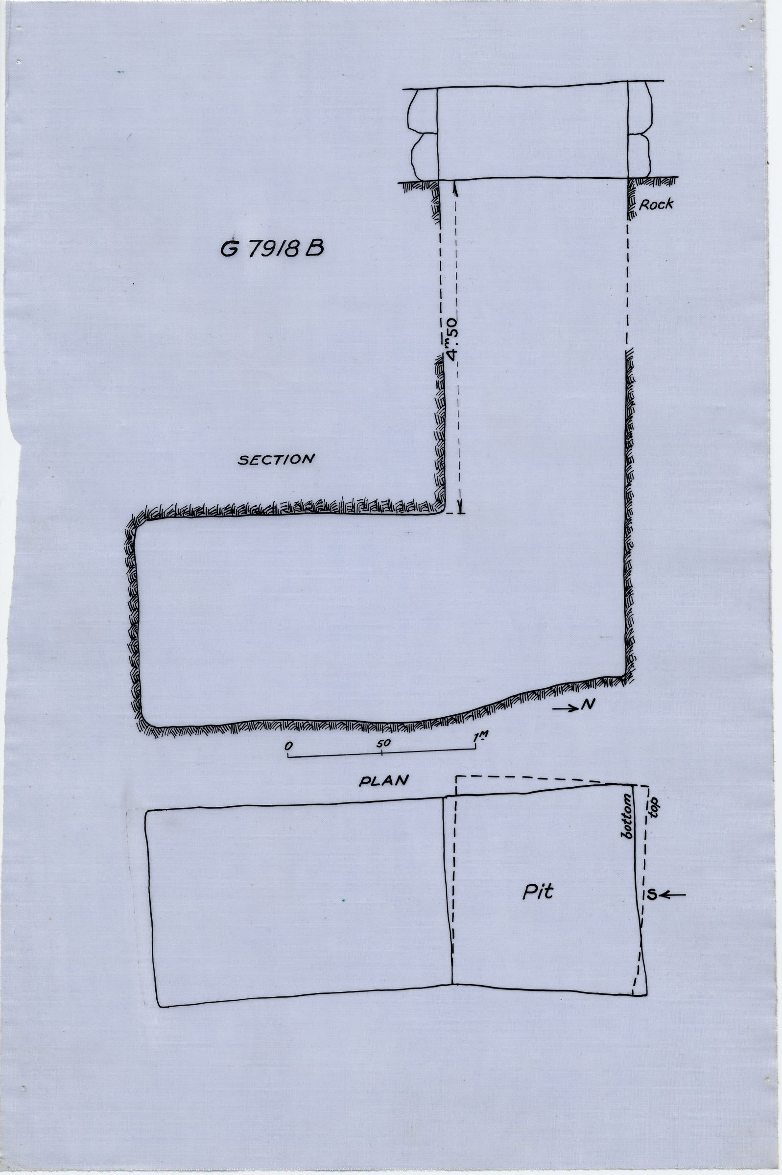 Maps and plans: G 7918, Shaft B