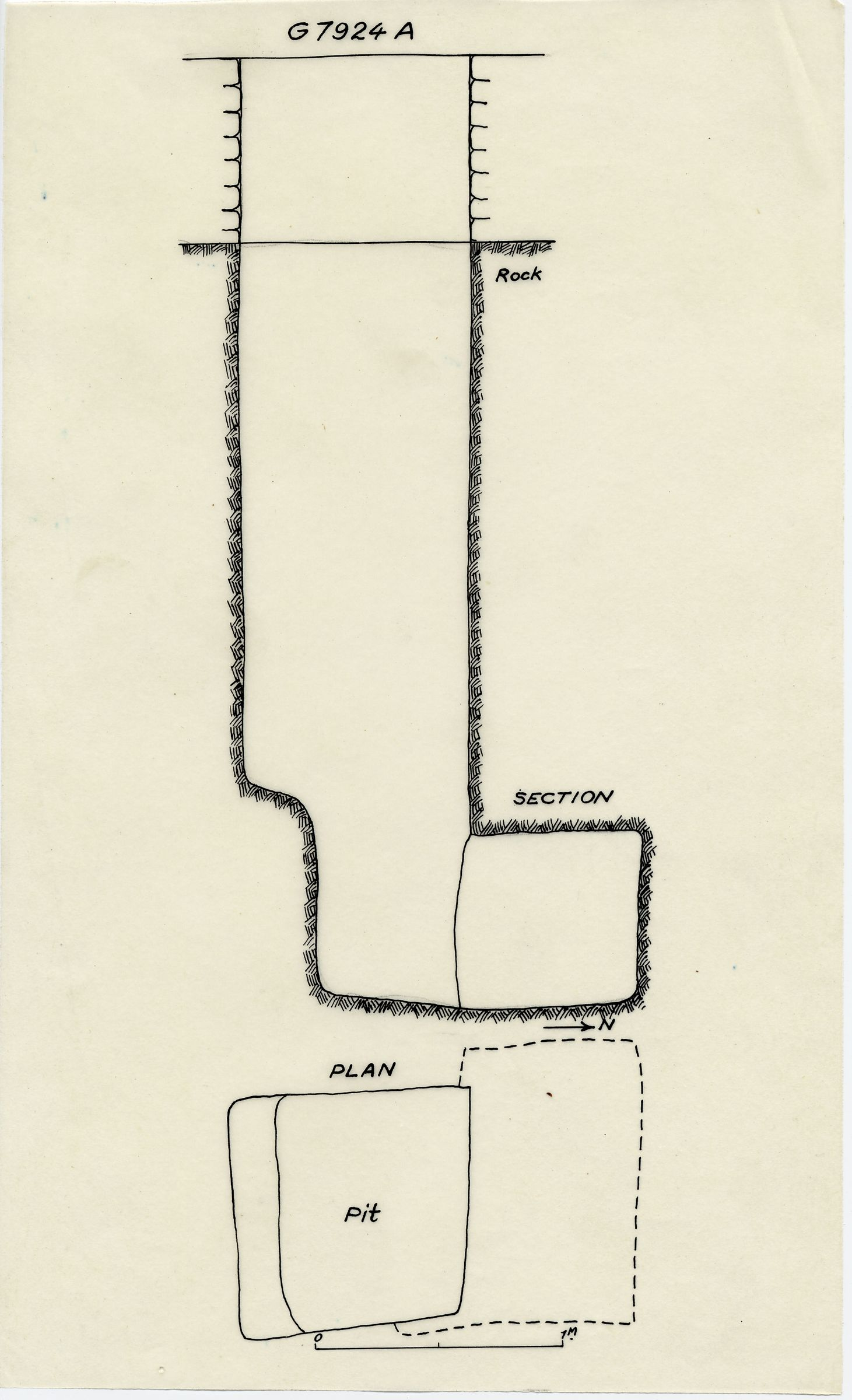 Maps and plans: G 7924b, Shaft A