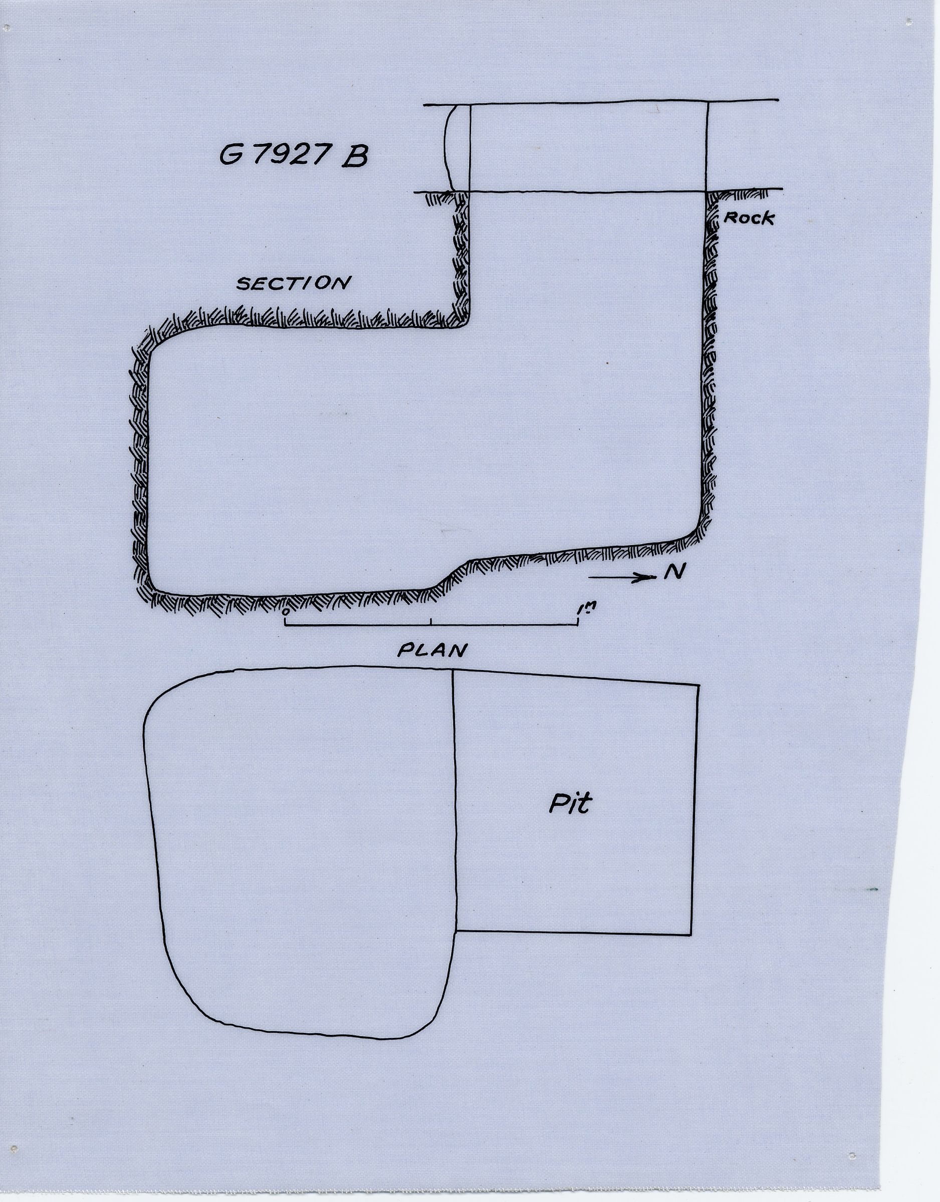 Maps and plans: G 7927, Shaft B