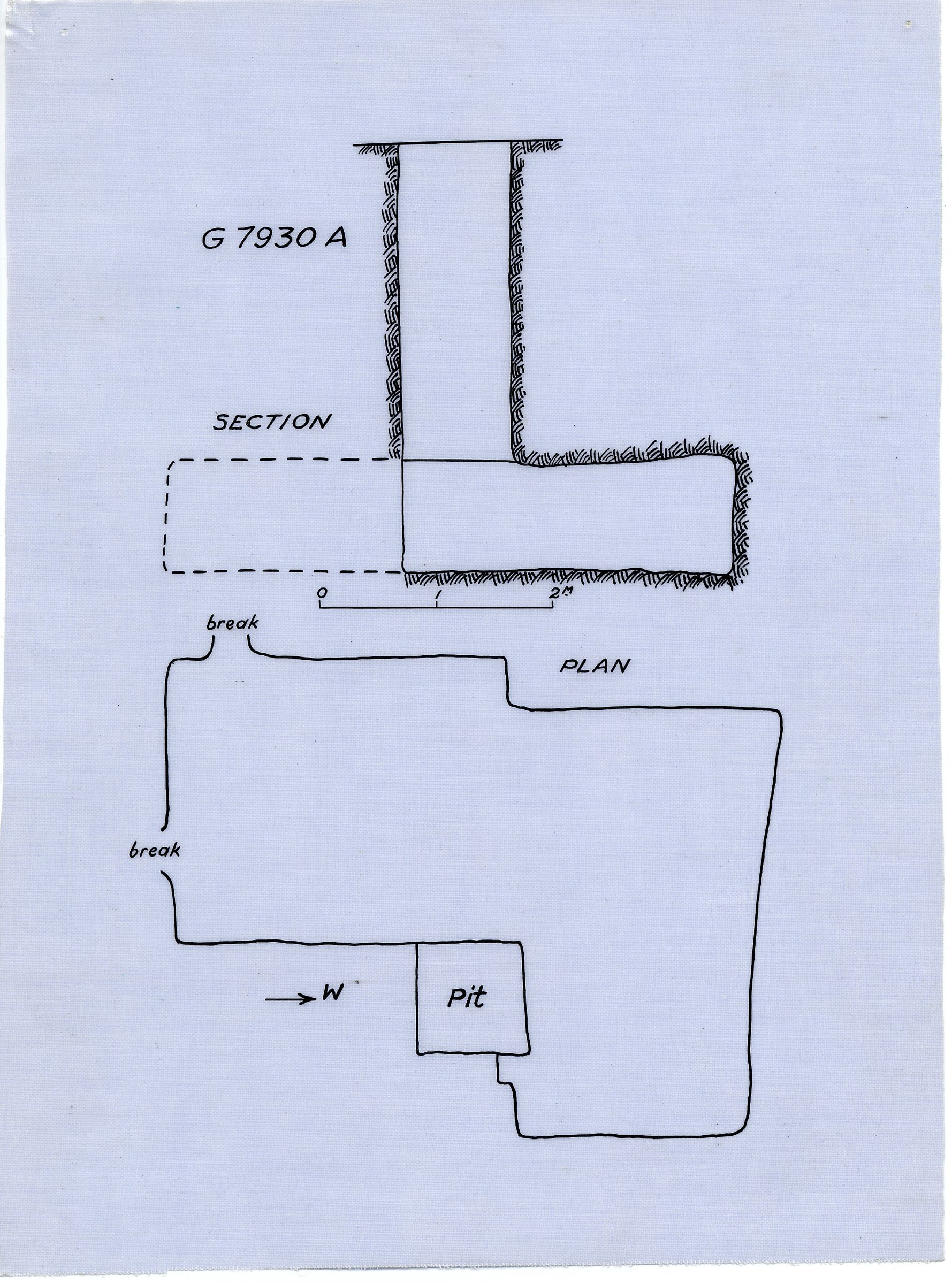 Maps and plans: G 7930, Shaft A