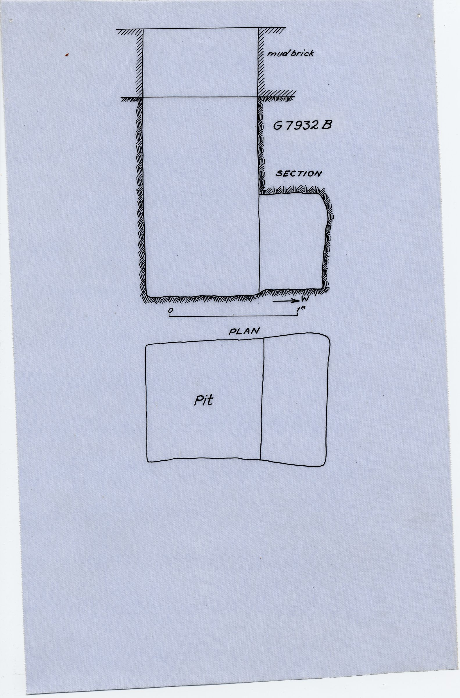 Maps and plans: G 7932, Shaft B