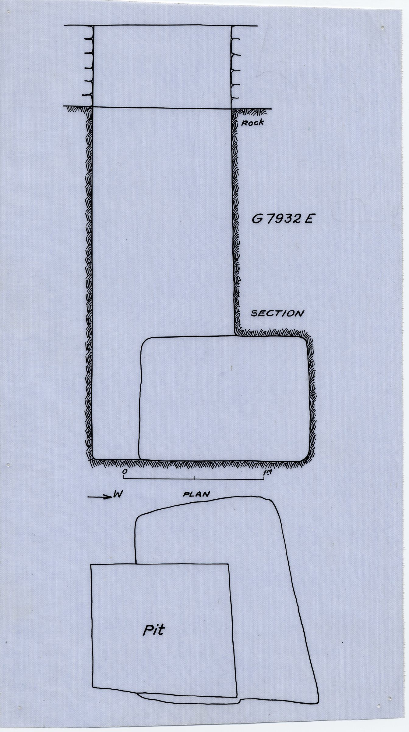 Maps and plans: G 7932, Shaft E