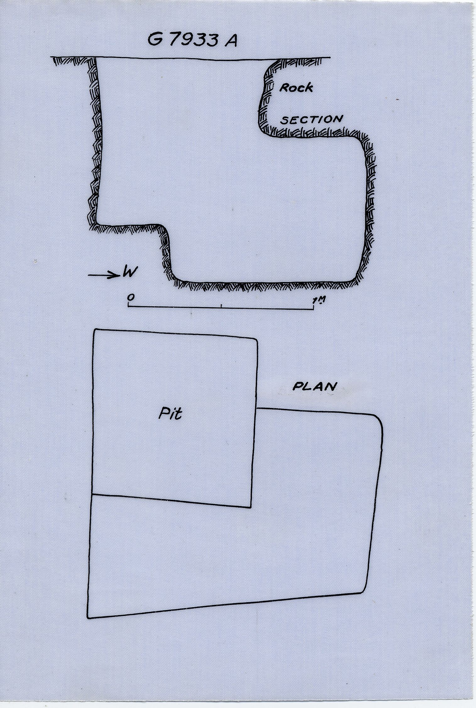 Maps and plans: G 7933, Shaft A